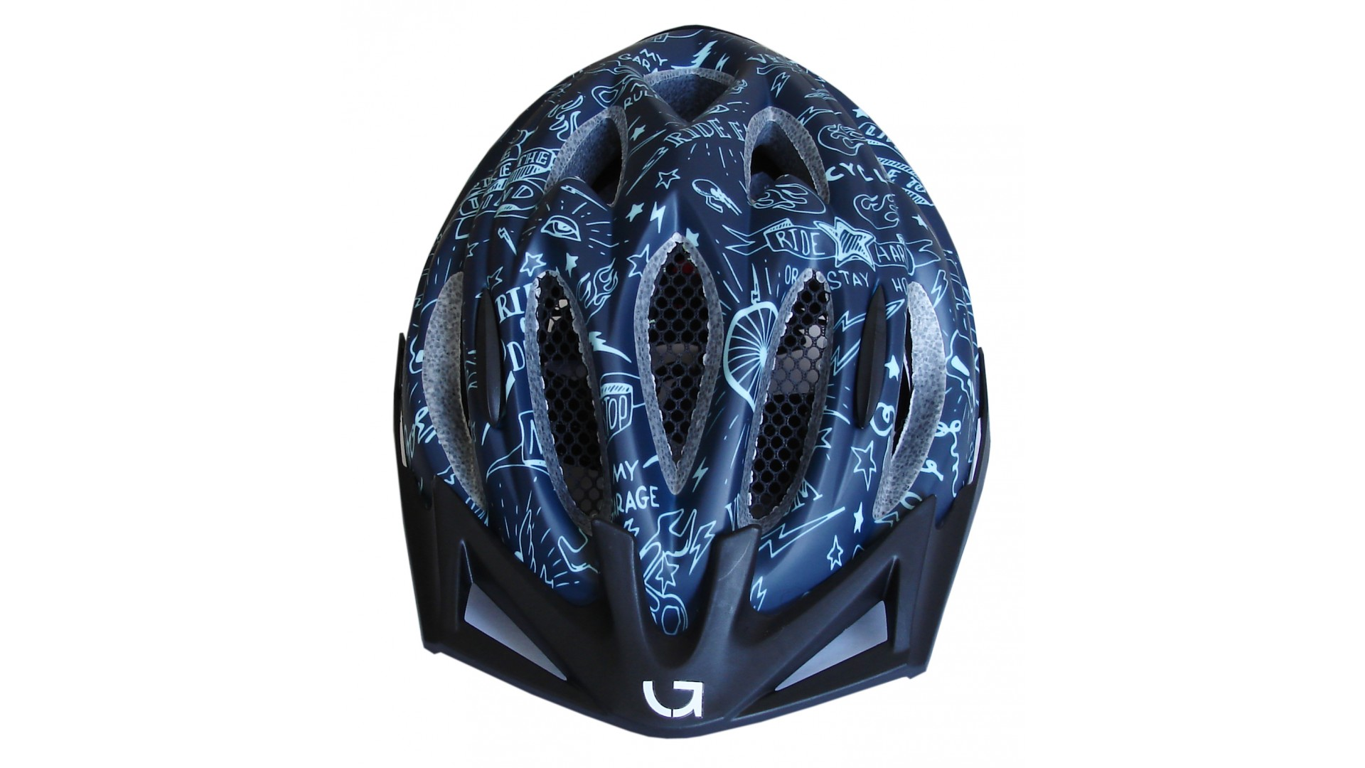 Велошлем детский Green Cycle Fast Five темно-синий