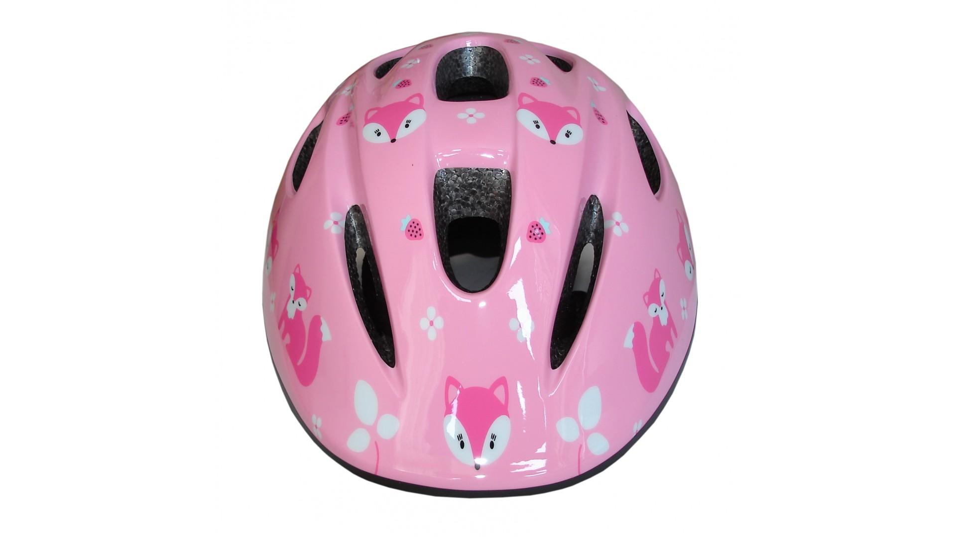 Велошлем детский Green Cycle Foxy розовый/малиновый/белый