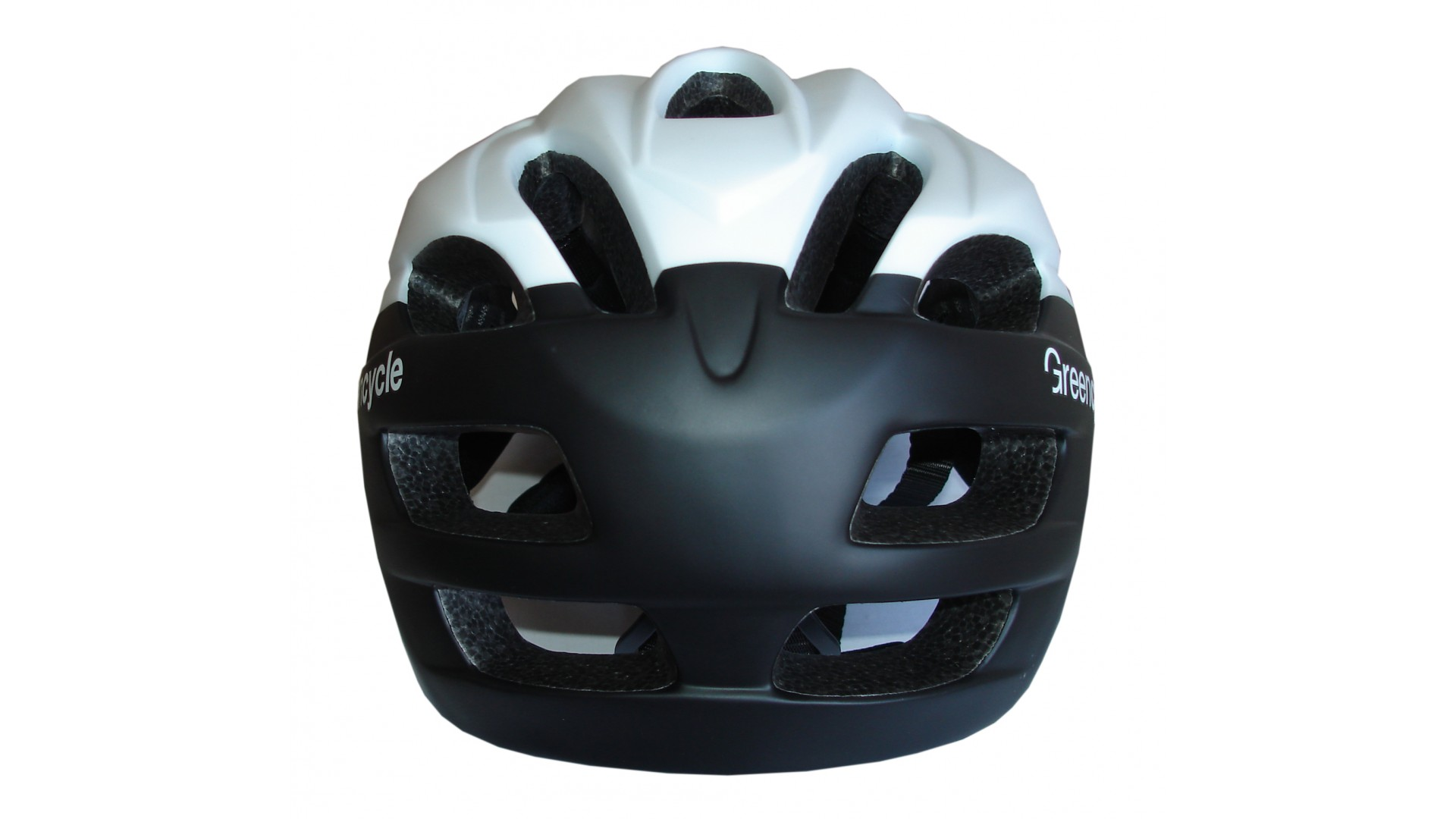 Велошлем Green Cycle Enduro black/white matt