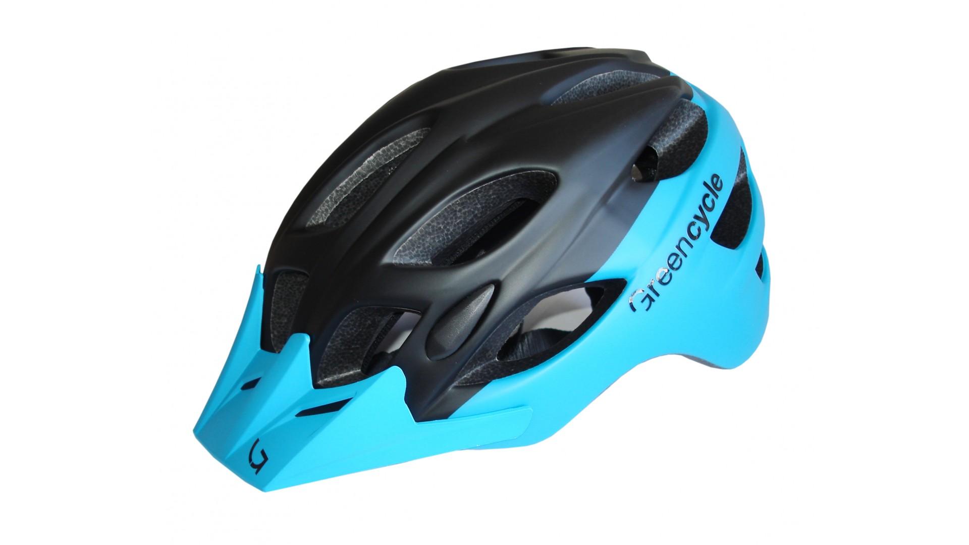 Велошлем Green Cycle Enduro black/cyan