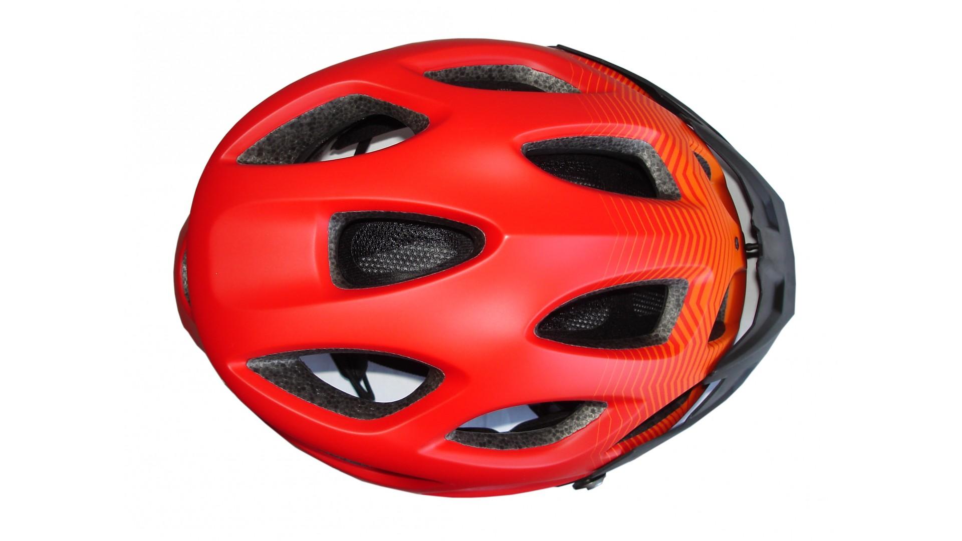 Велошлем Green Cycle Slash red/orange/black matt