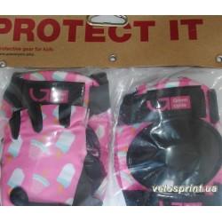 Защита тела Green Cycle Ice Cream Pink детская, наколенники, налокотники, перчатки