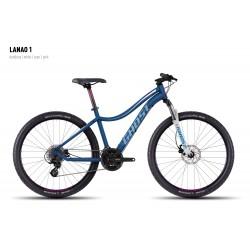 Велосипед GHOST Lanao 1 darkblue/white/cyan/pink год 2016