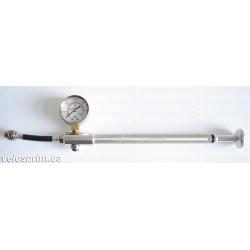 Насос X17 Shok, для вилок алюм. высокого давления Schrader, серебр.
