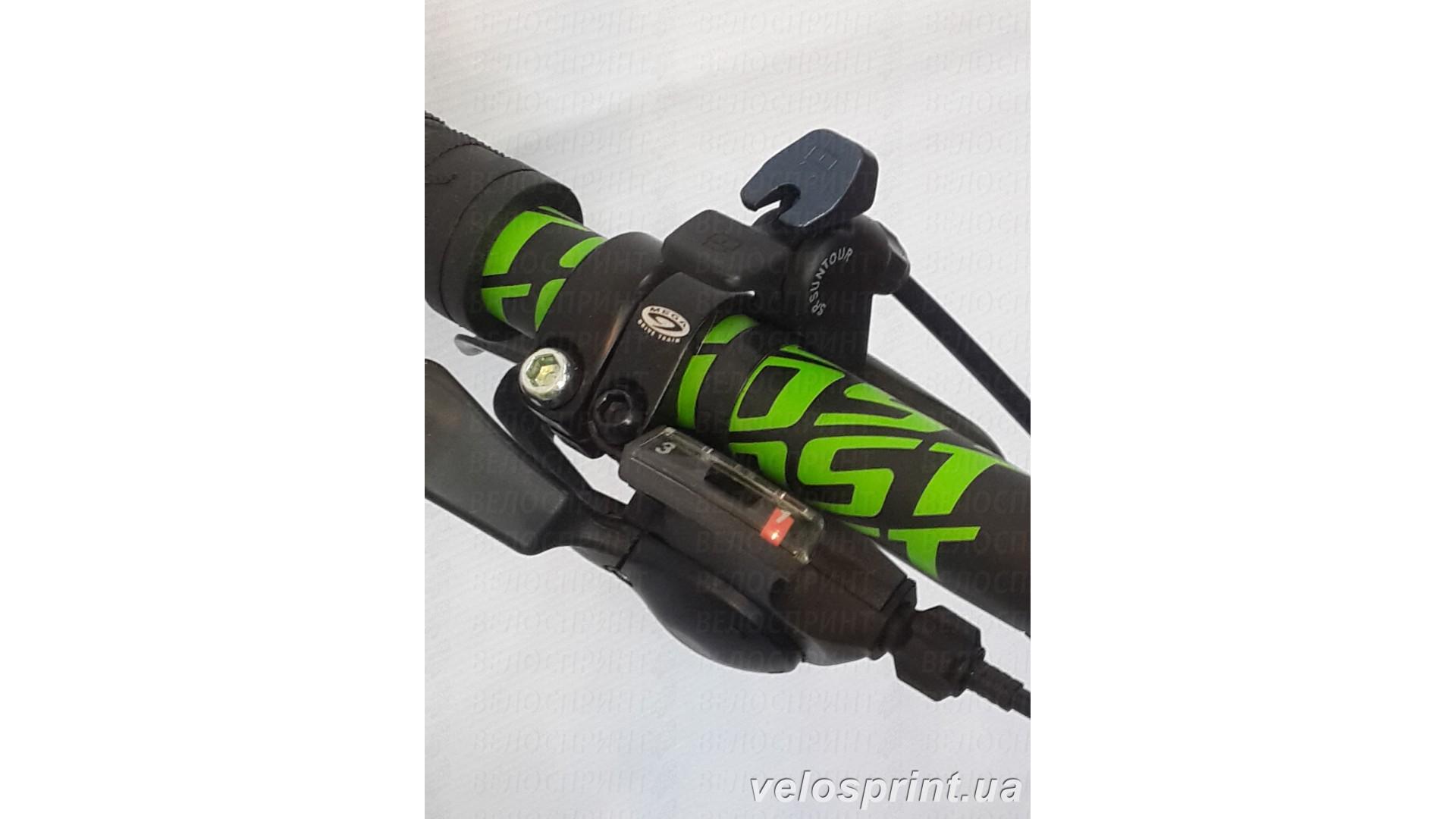 Велосипед GHOST Kato 3 green/darkgreen/black блокировка вилки вид2 год 2016