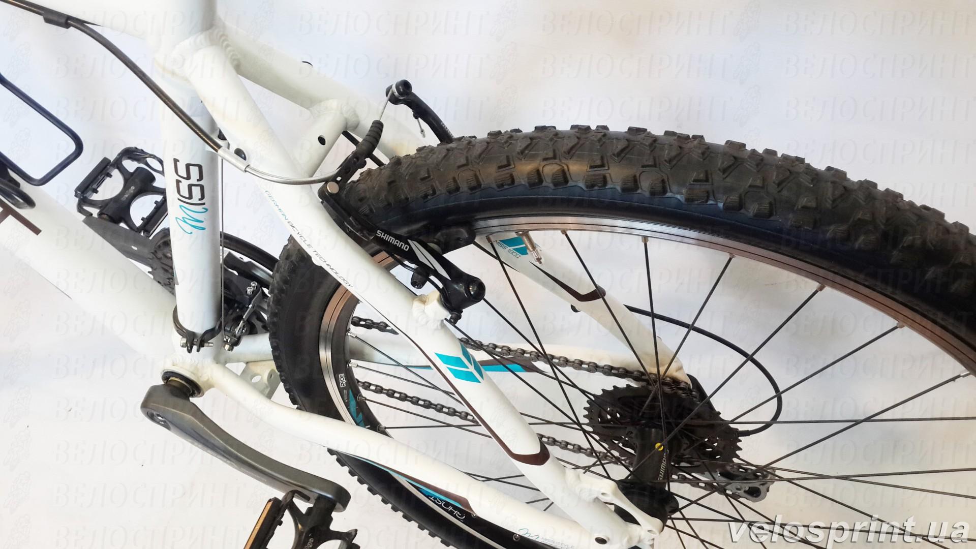 Велосипед GHOST MISS 1800 white/brown/petrol задний тормоз год 2013