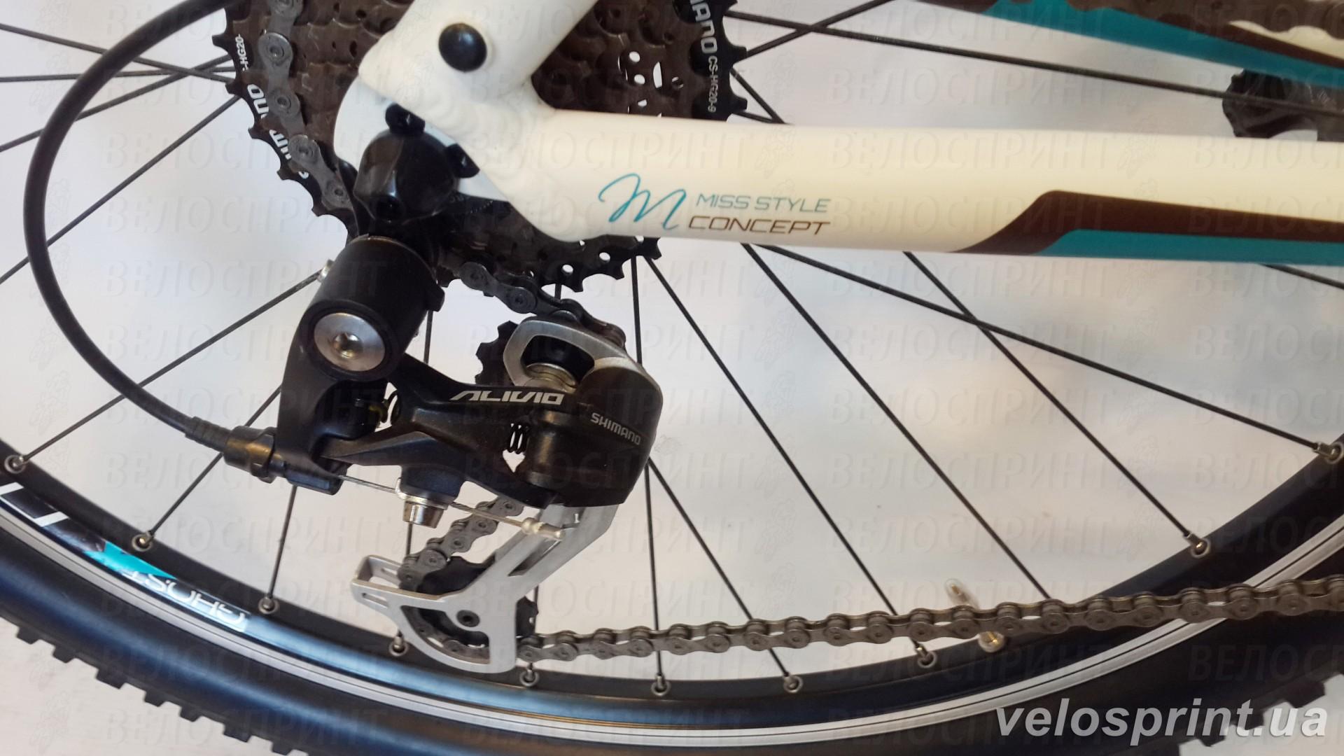 Велосипед GHOST MISS 1800 white/brown/petrol задний переключатель год 2013