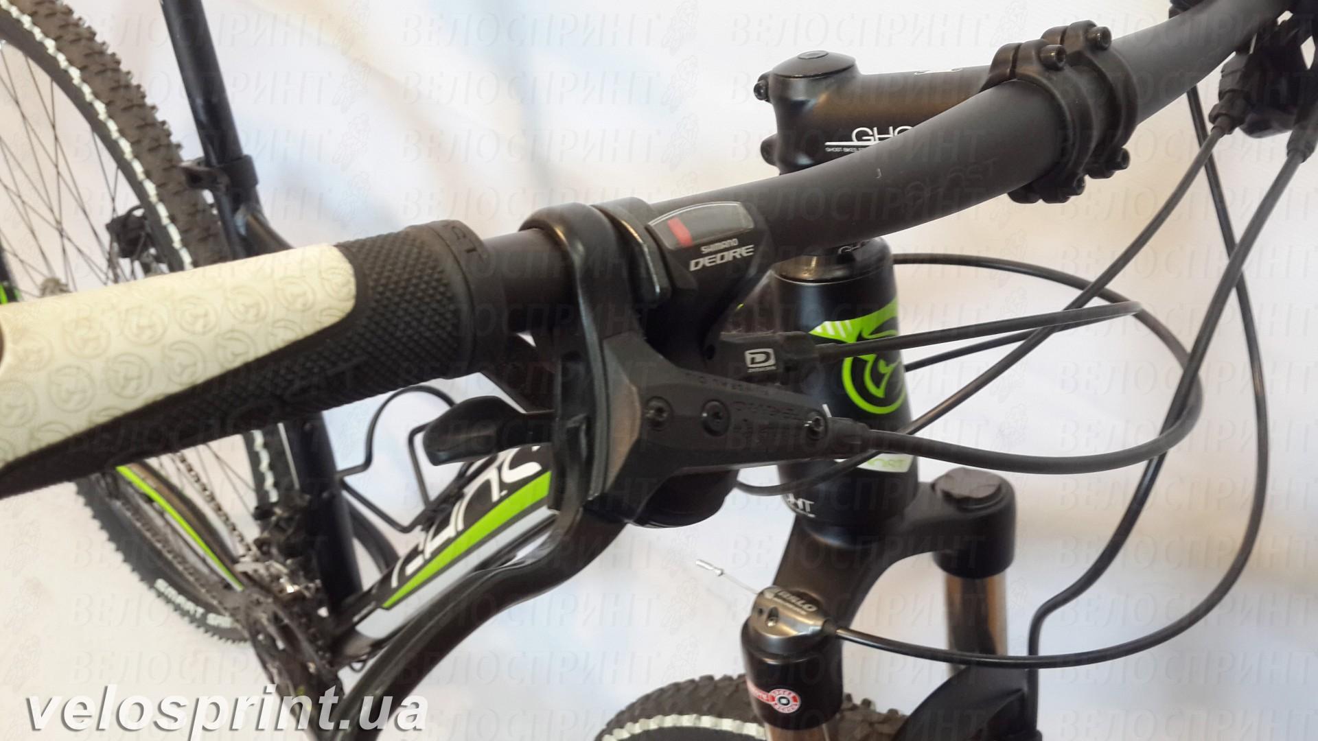 Велосипед GHOST SE 2950 black/white/green руль год 2013
