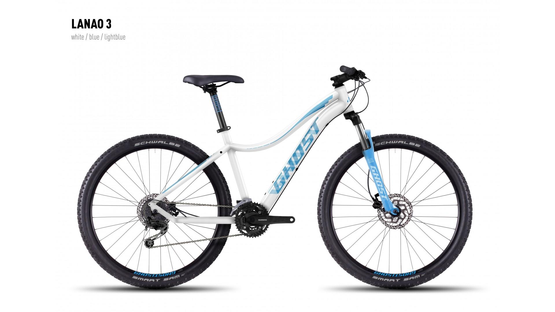Велосипед GHOST Lanao 3 white/blue/lightblue год 2016
