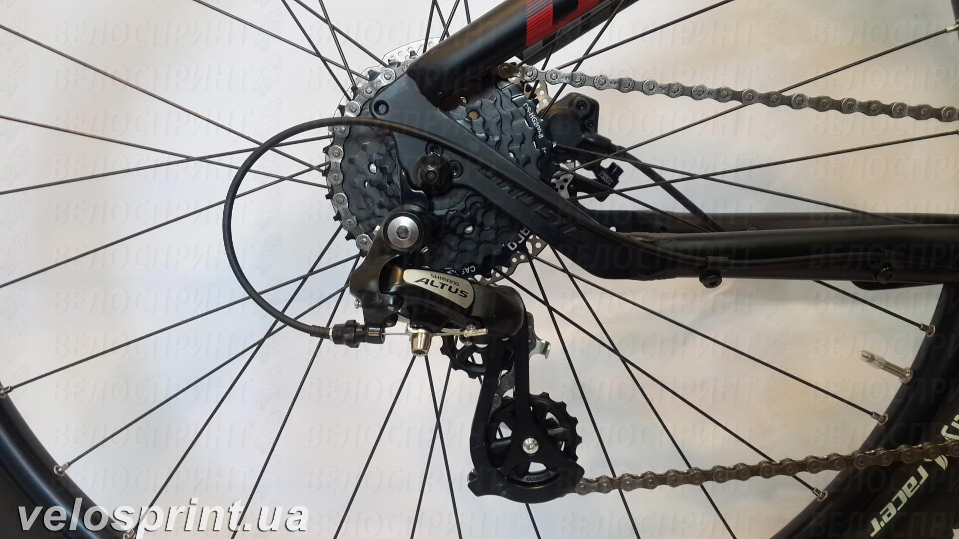 Велосипед GHOST Tacana 1 black/red/grey задний переключатель год 2016