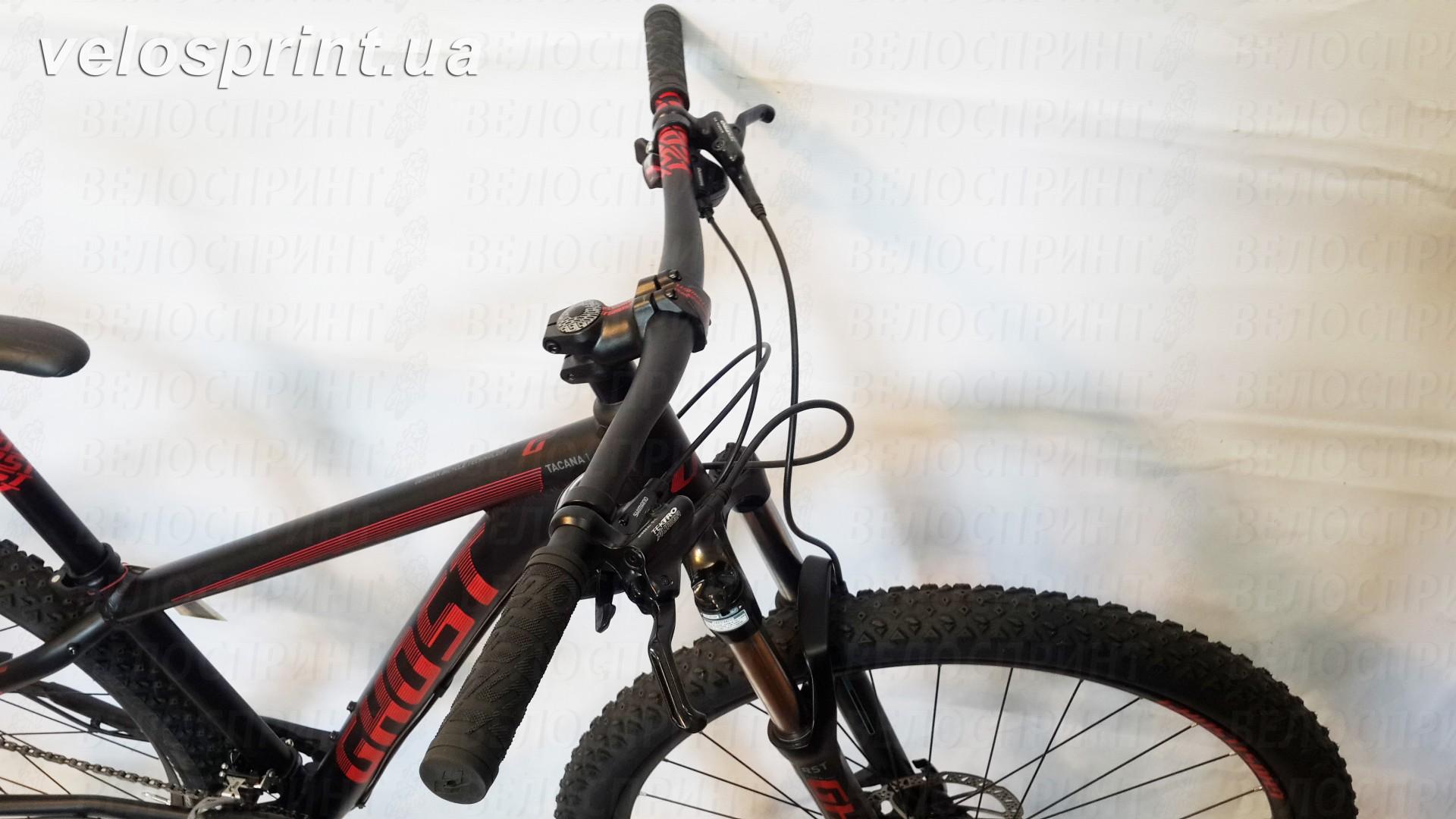 Велосипед GHOST Tacana 1 black/red/grey тормозные ручки год 2016