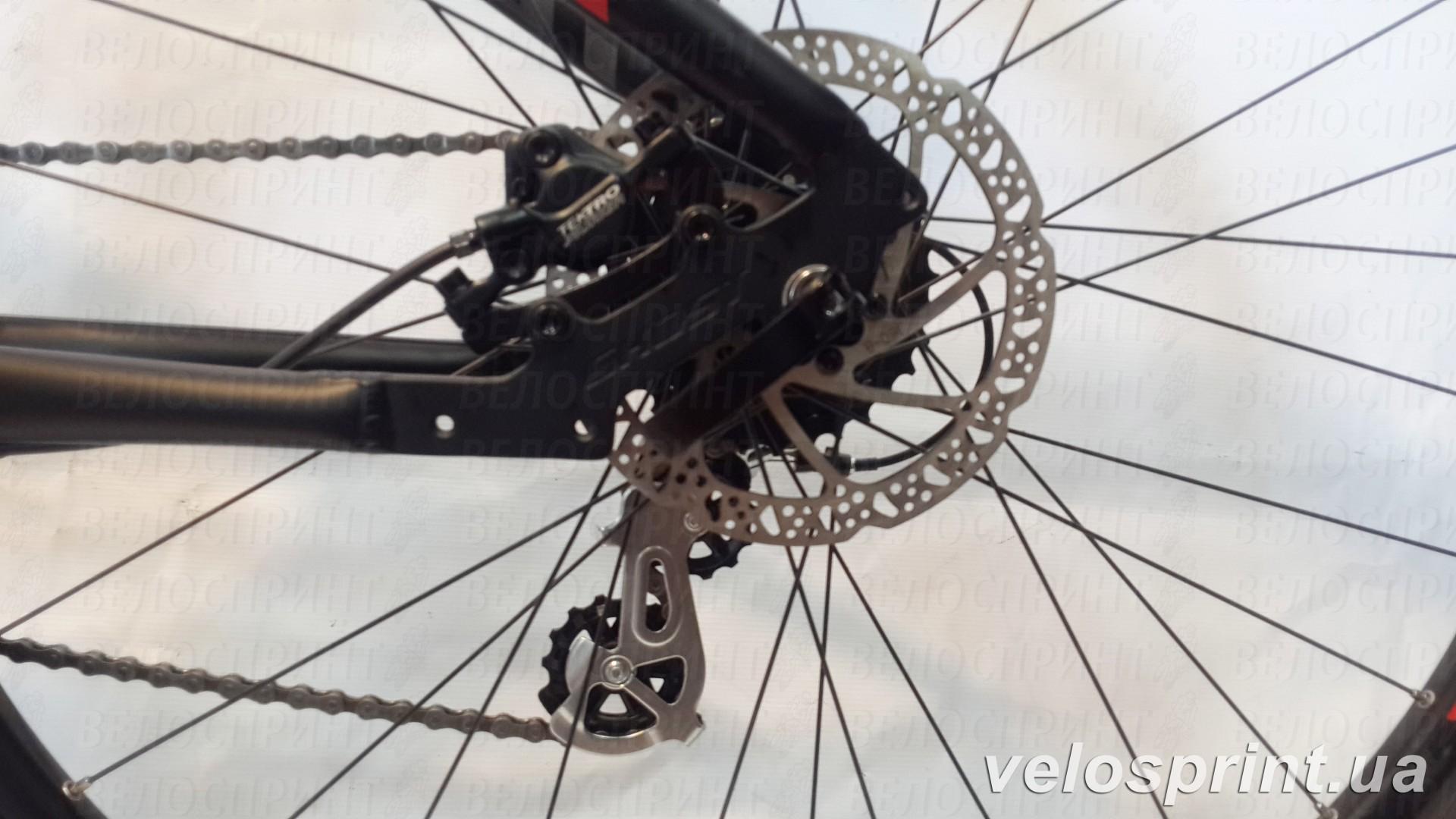 Велосипед GHOST Tacana 1 black/red/grey задний тормоз год 2016