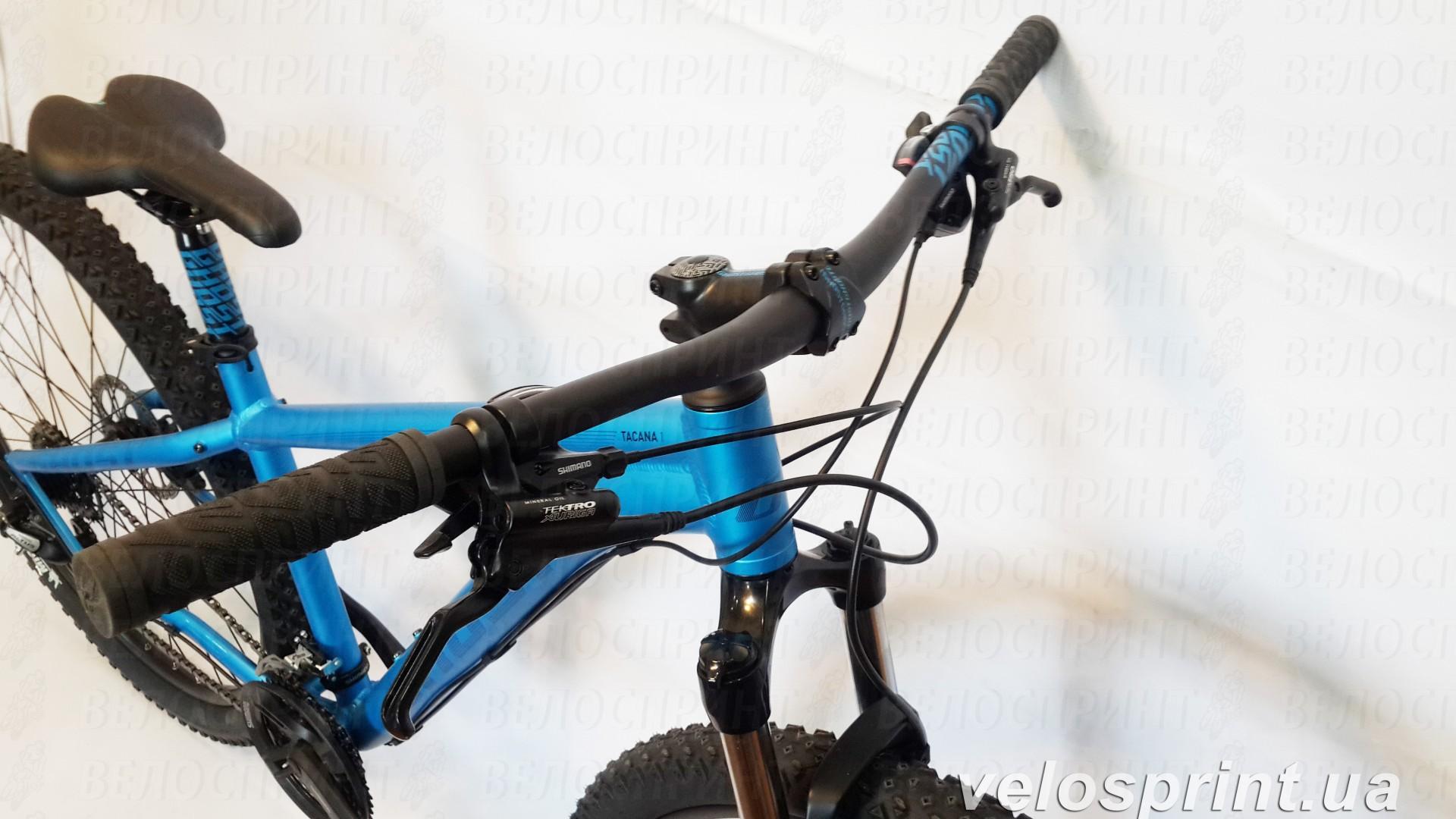 Велосипед GHOST Tacana 1 blue/darkblue/black руль год 2016
