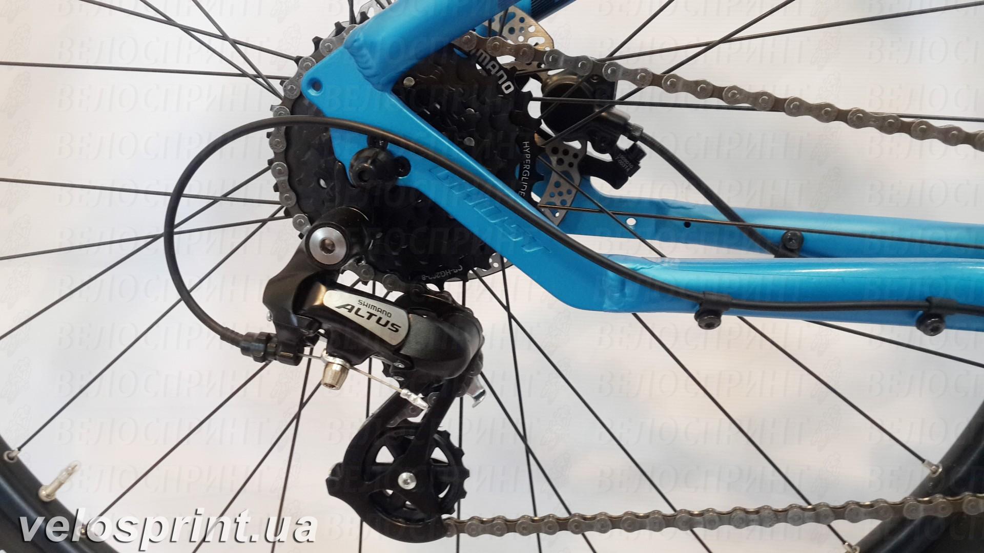 Велосипед GHOST Tacana 1 blue/darkblue/black задний переключатель год 2016