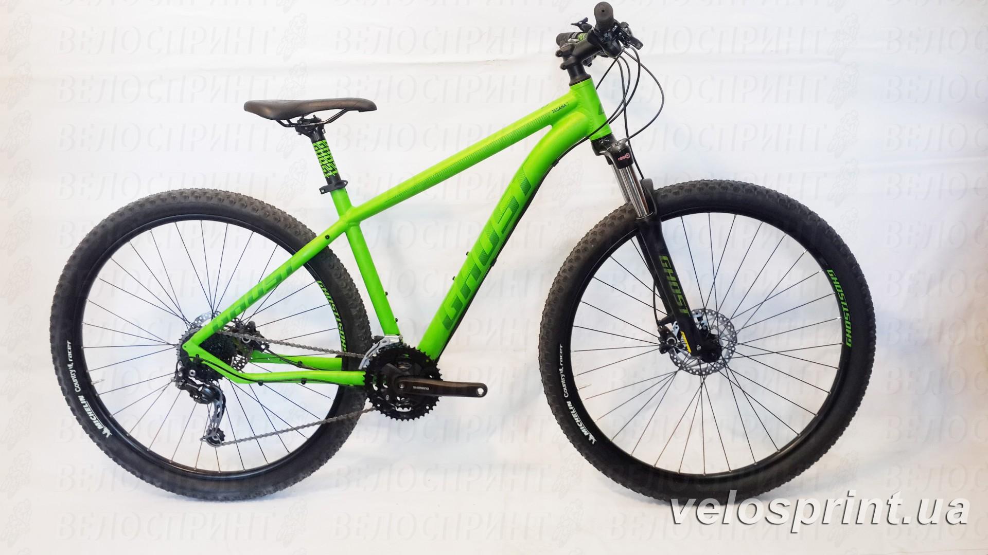Велосипед GHOST Tacana 3 green/darkgreen/black общий вид год 2016