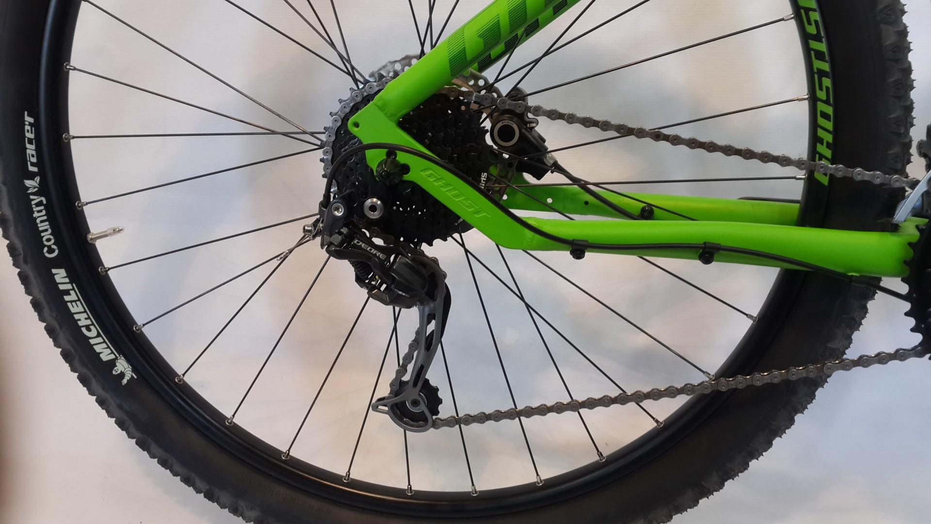 Велосипед GHOST Tacana 3 green/darkgreen/black задний переключатель год 2016