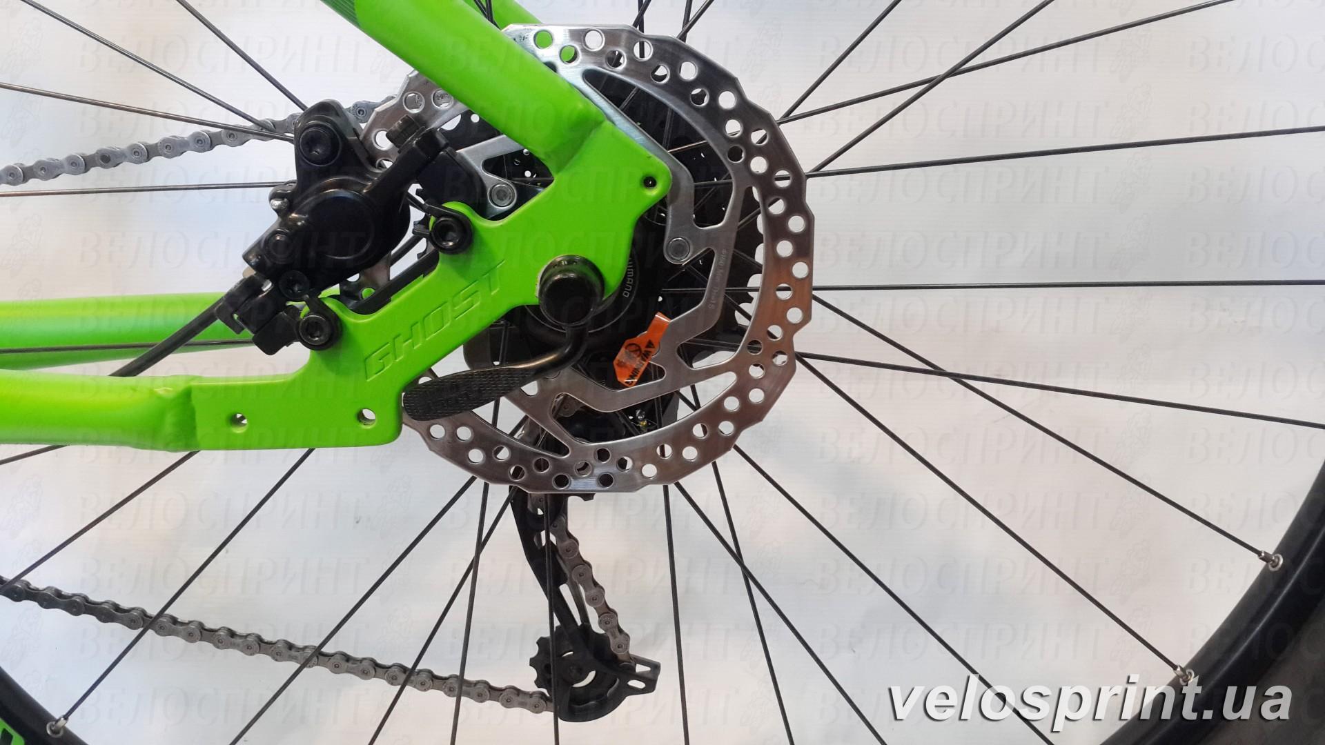 Велосипед GHOST Tacana 3 green/darkgreen/black задний тормоз год 2016