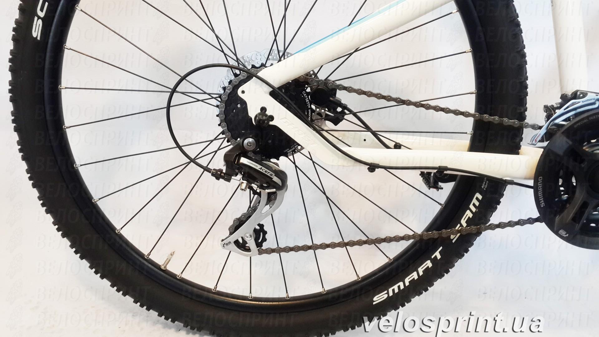 Велосипед GHOST Lanao 2 white/blue/lightblue задний переключатель год 2016