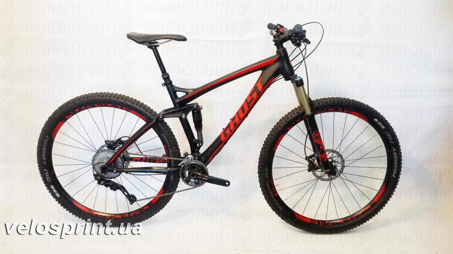 Велосипед GHOST AMR 6 black/red общий вид год 2016