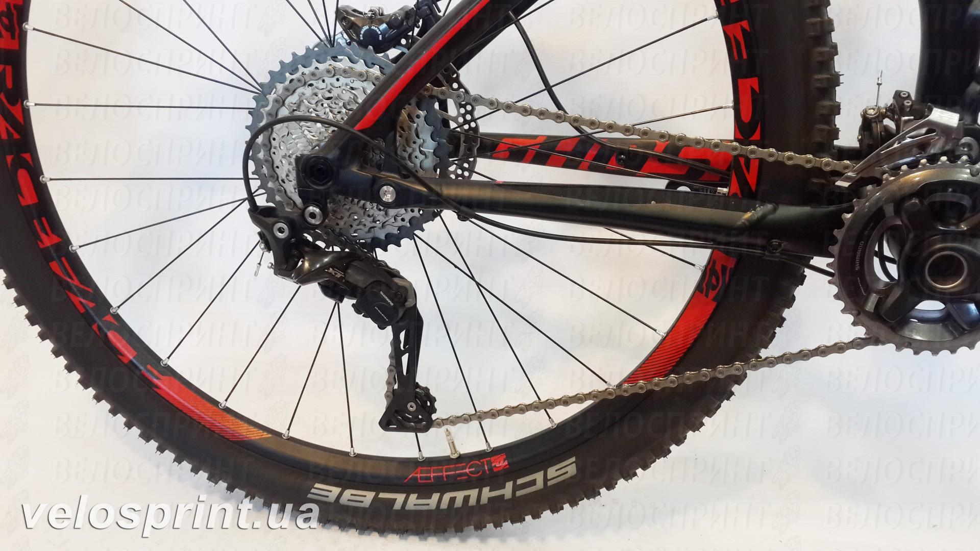 Велосипед GHOST AMR 6 black/red задний переключатель год 2016