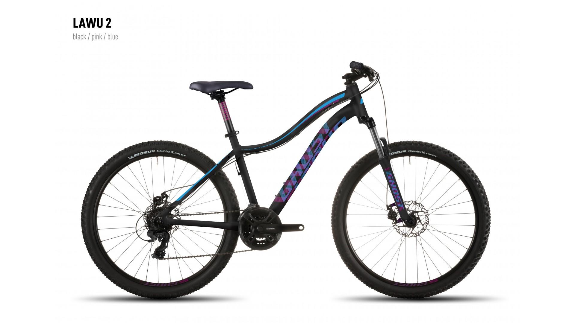 Велосипед GHOST Lawu 2 black/pink/blue год 2016