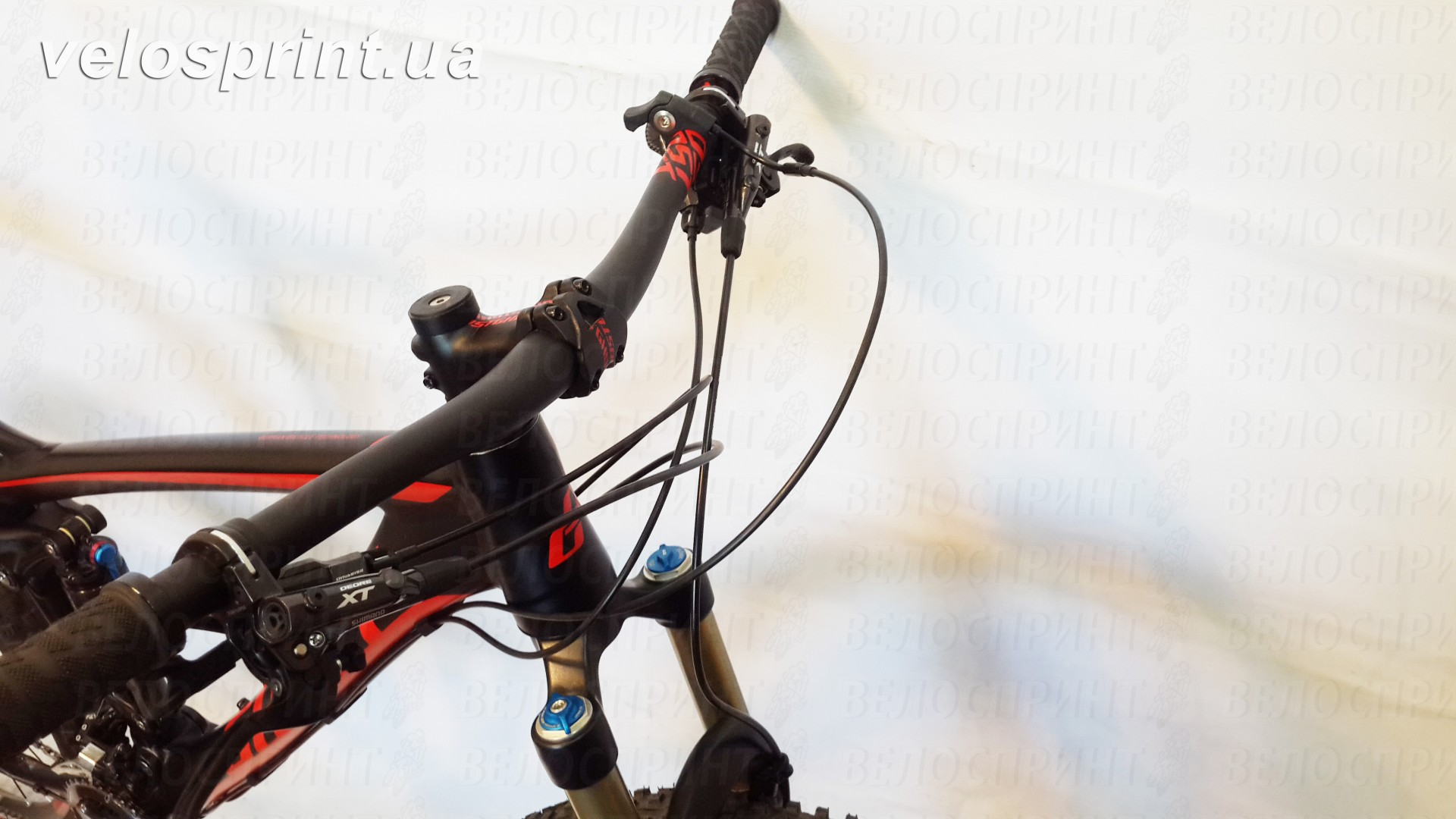 Велосипед GHOST AMR 6 black/red тормозные ручки год 2016