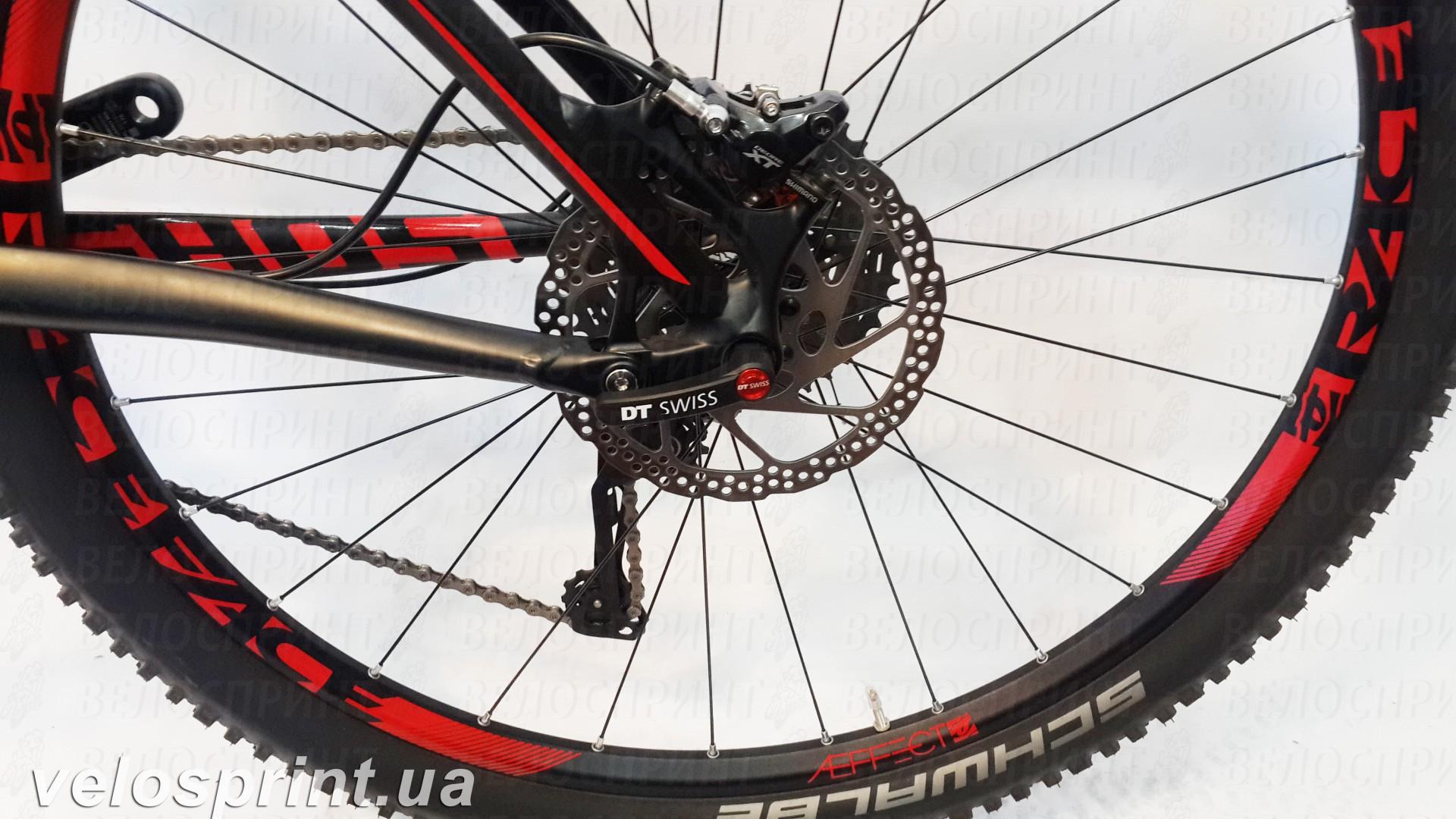 Велосипед GHOST AMR 6 black/red год задний тормоз 2016