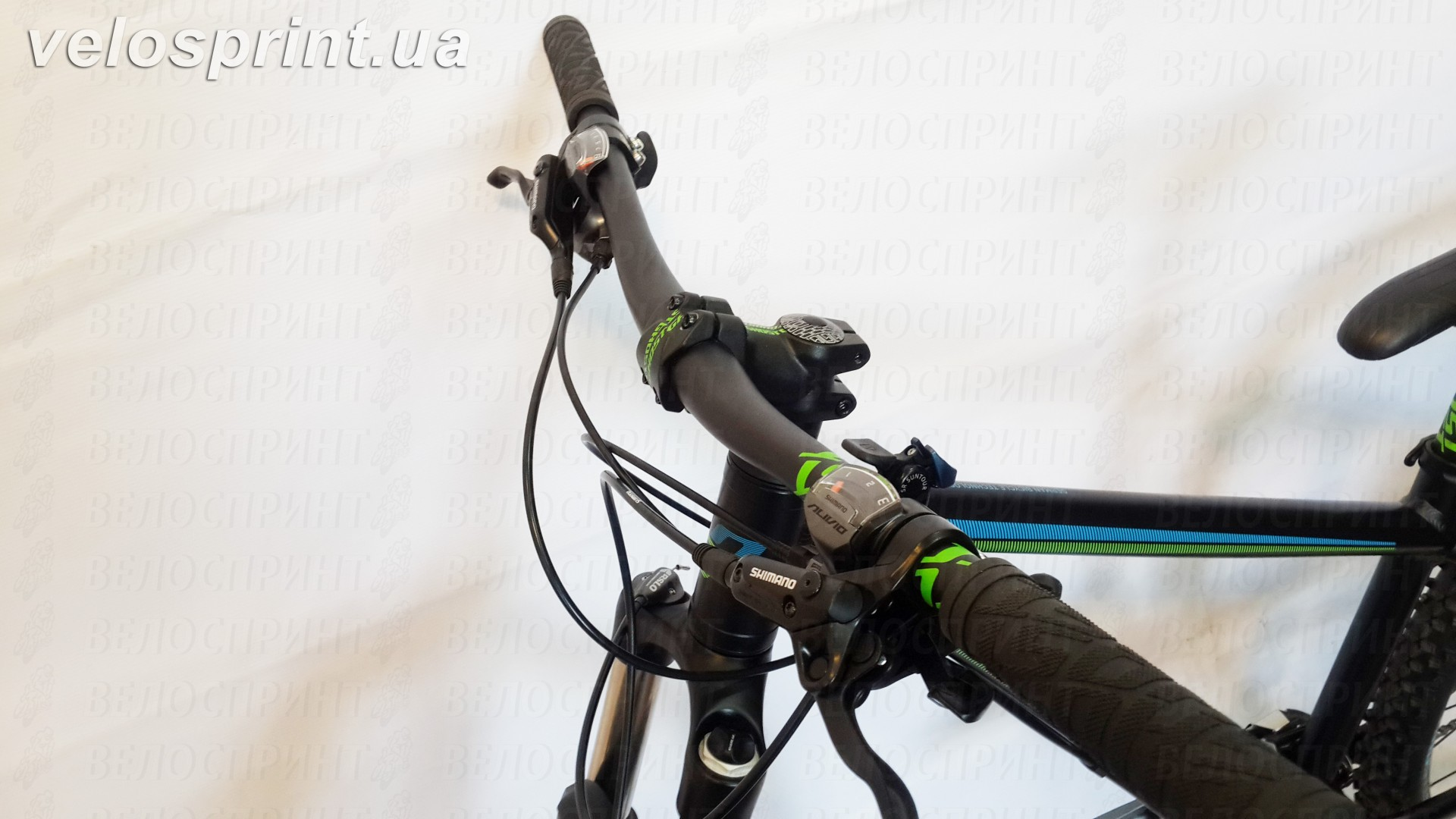 Велосипед GHOST Kato 4 black/green/blue тормозные ручки год 2016