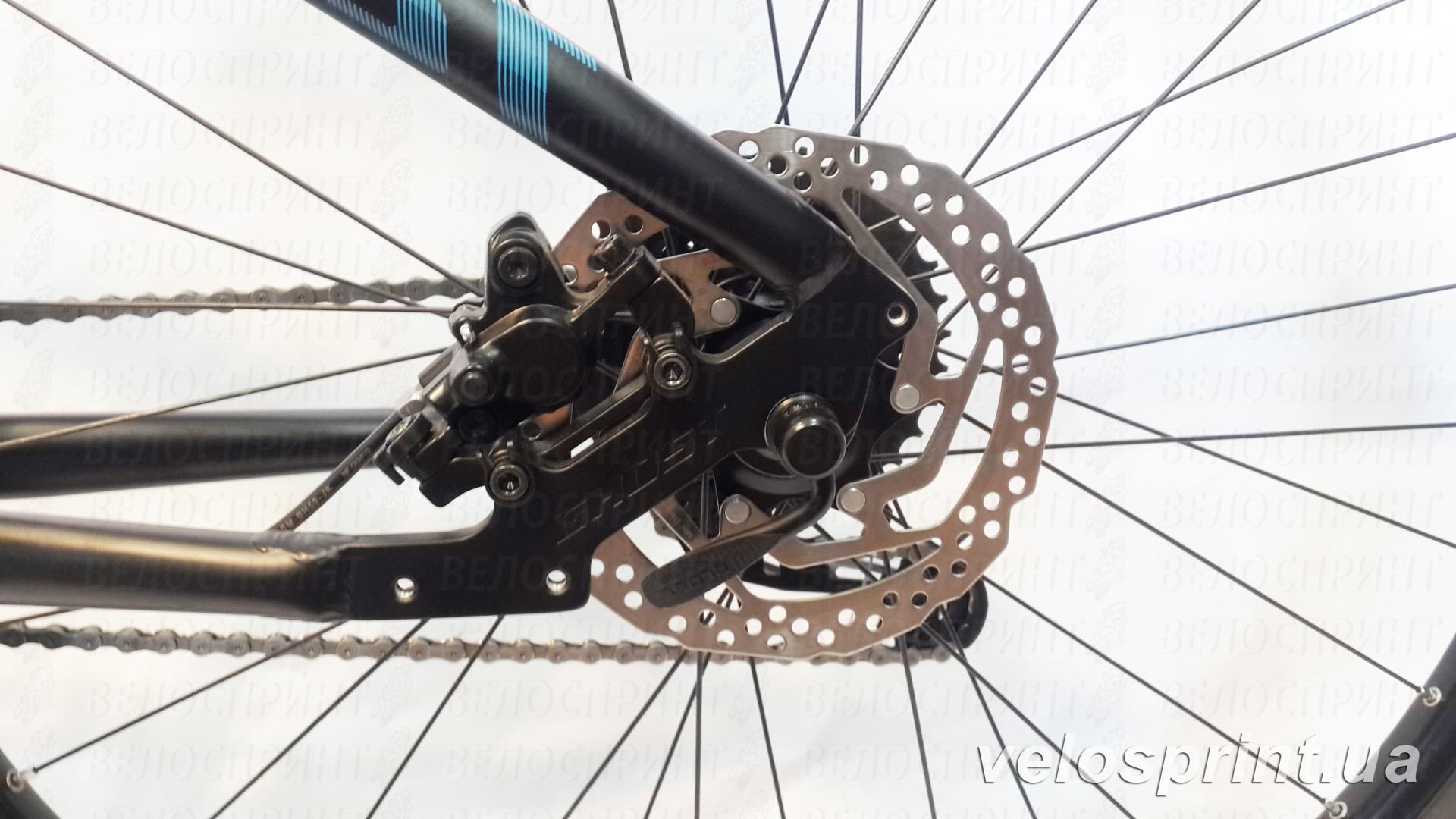 Велосипед GHOST Kato 4 black/green/blue задний тормоз год 2016