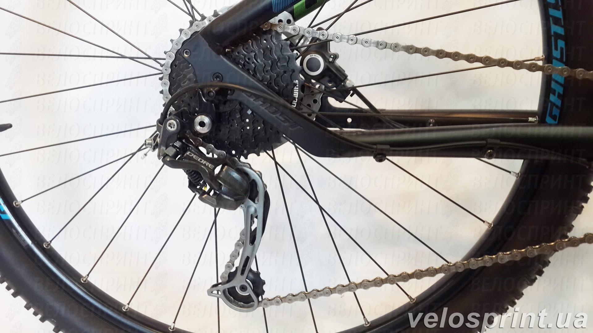 Велосипед GHOST Kato 4 black/green/blue задний переключатель год 2016