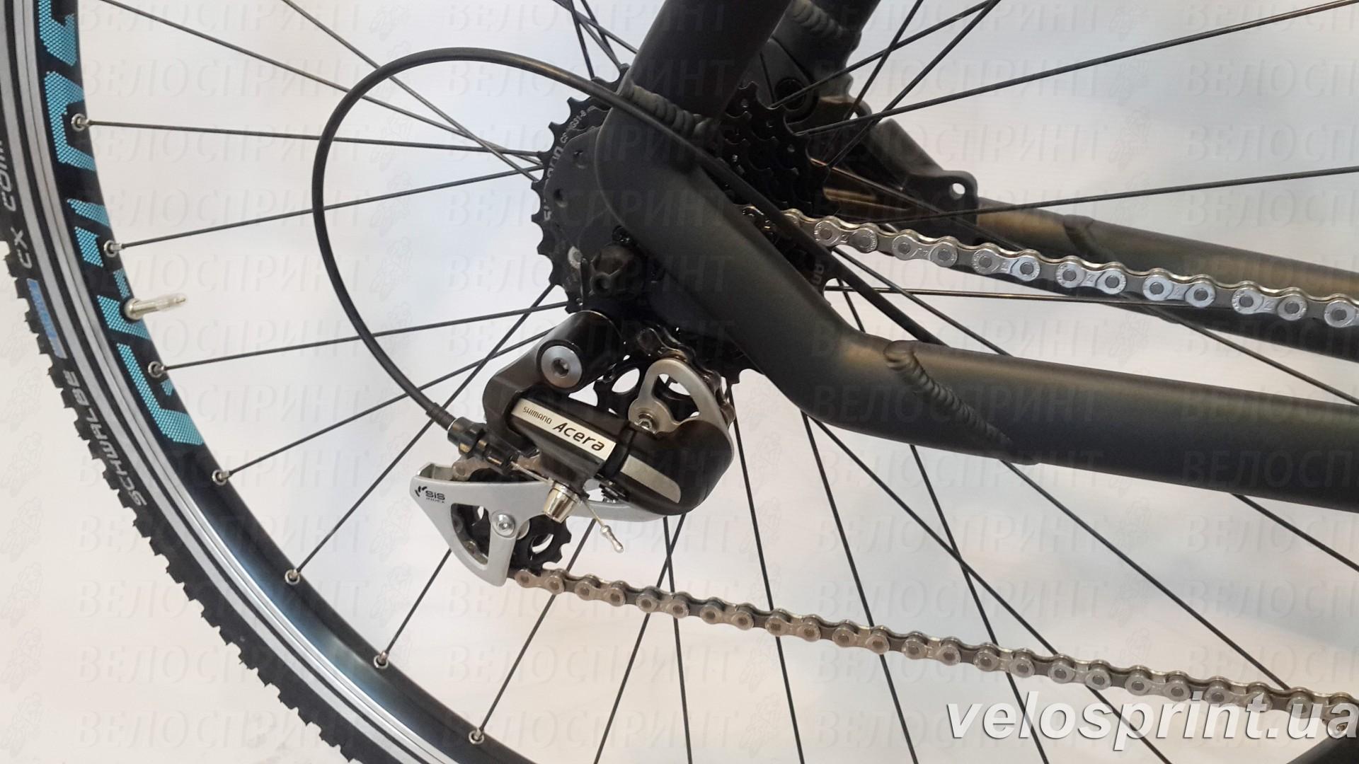 Велосипед GHOST Square Cross 2 black/lightblue задний переключатель год 2016