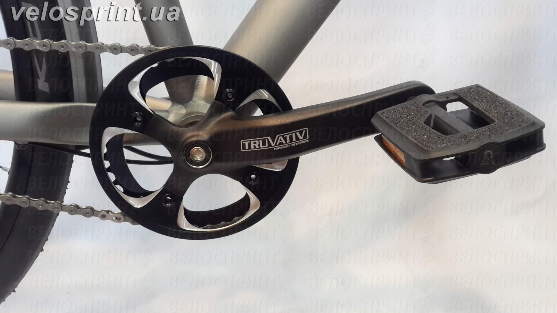 Велосипед GHOST Square Urban 4 grey/limegreen шатуны год 2016