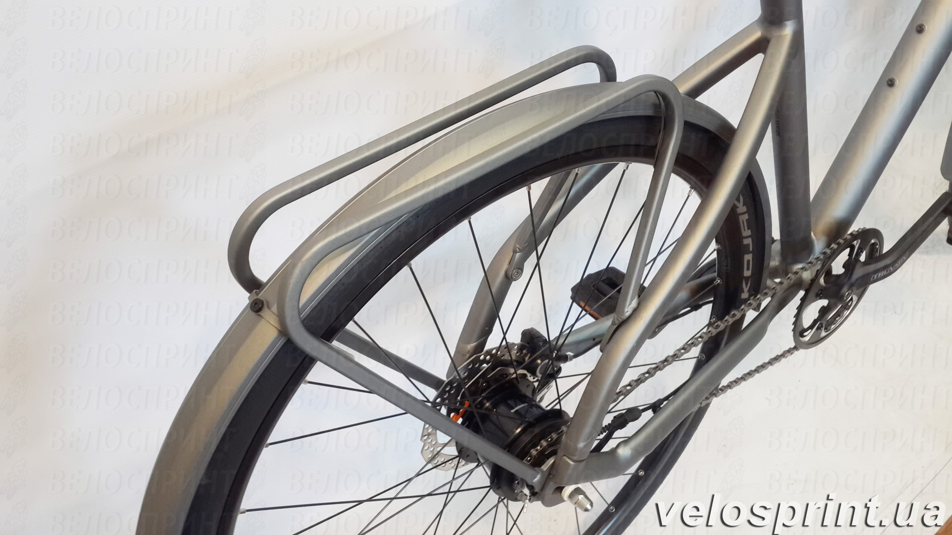 Велосипед GHOST Square Urban 4 grey/limegreen багажник год 2016