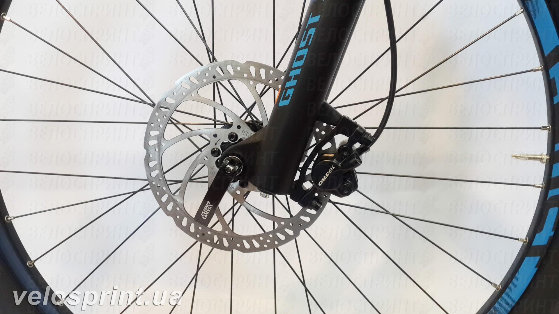 Велосипед GHOST Kato FS 2 AL 27.5 nightblack/riotblue/monarchorange передний тормоз год 2017