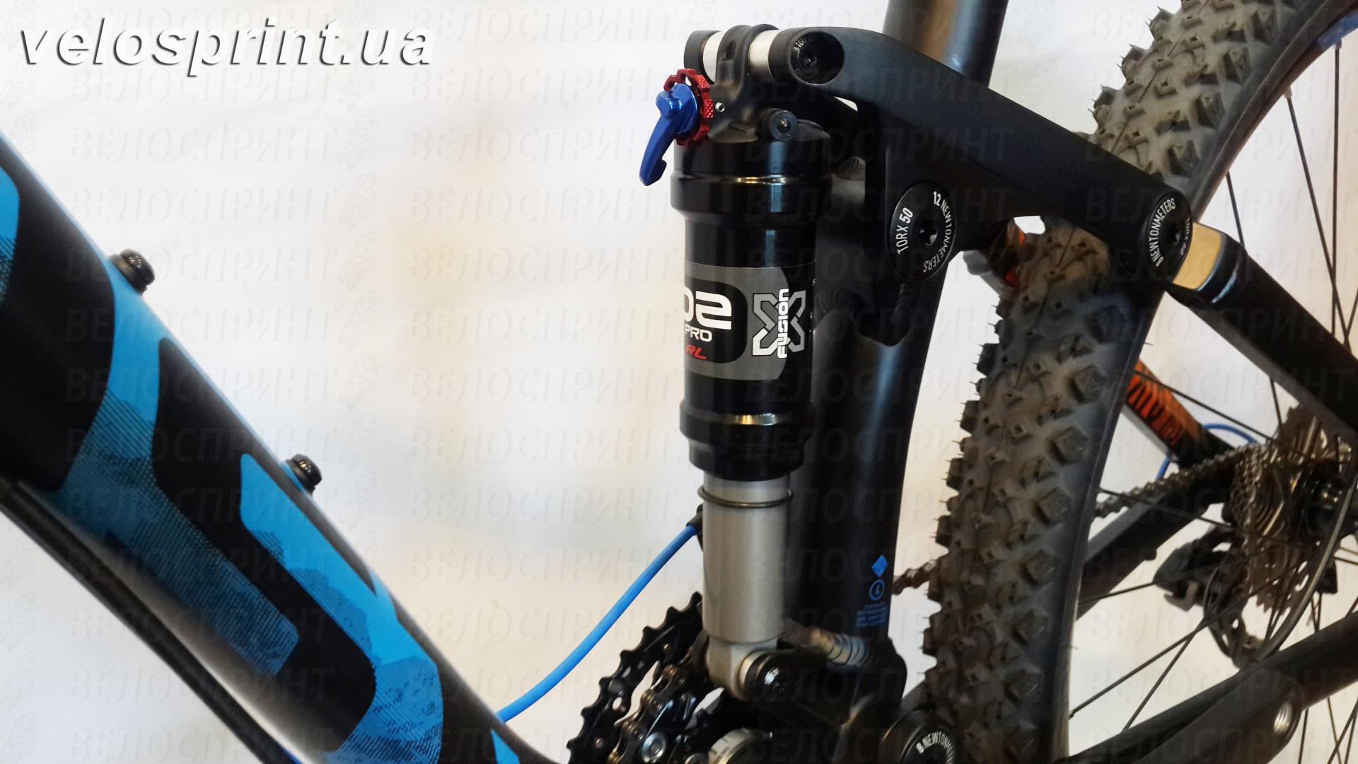 Велосипед GHOST Kato FS 2 AL 27.5 nightblack/riotblue/monarchorange задний амортизатор год 2017