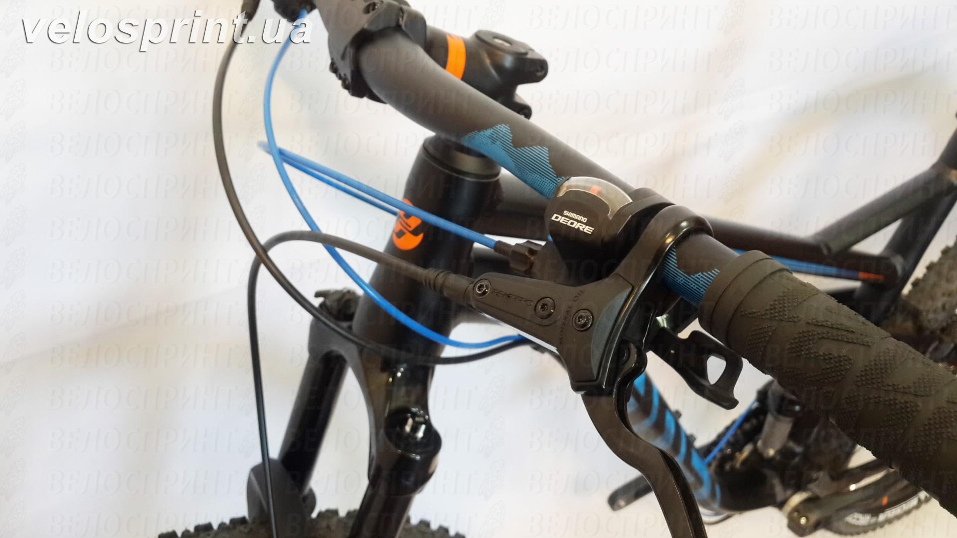 Велосипед GHOST Kato FS 2 AL 27.5 nightblack/riotblue/monarchorange руль год 2017
