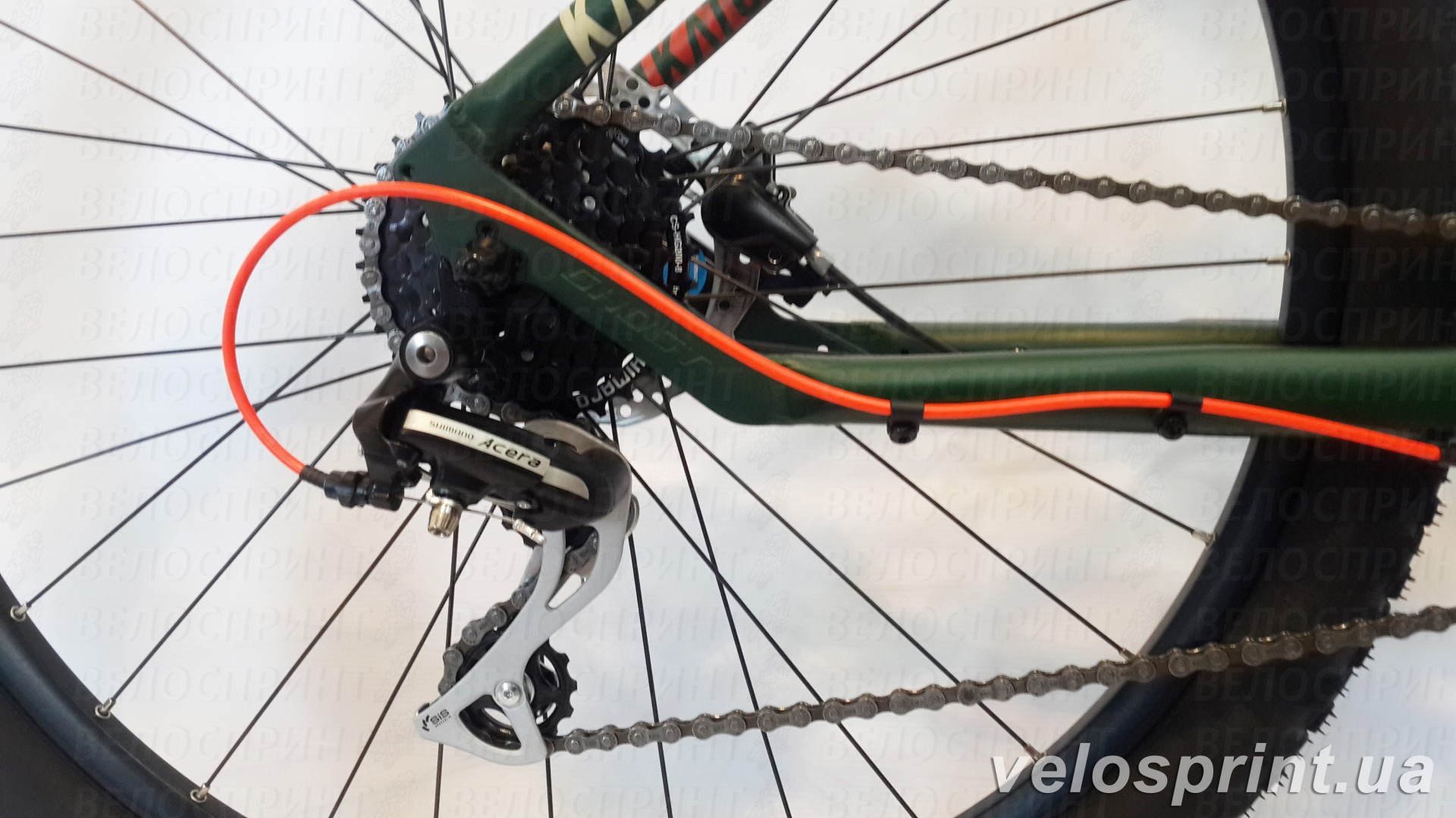 Велосипед GHOST Kato 2 AL 27.5 forestgreen/armygreen/neonred задний переключатель год 2017