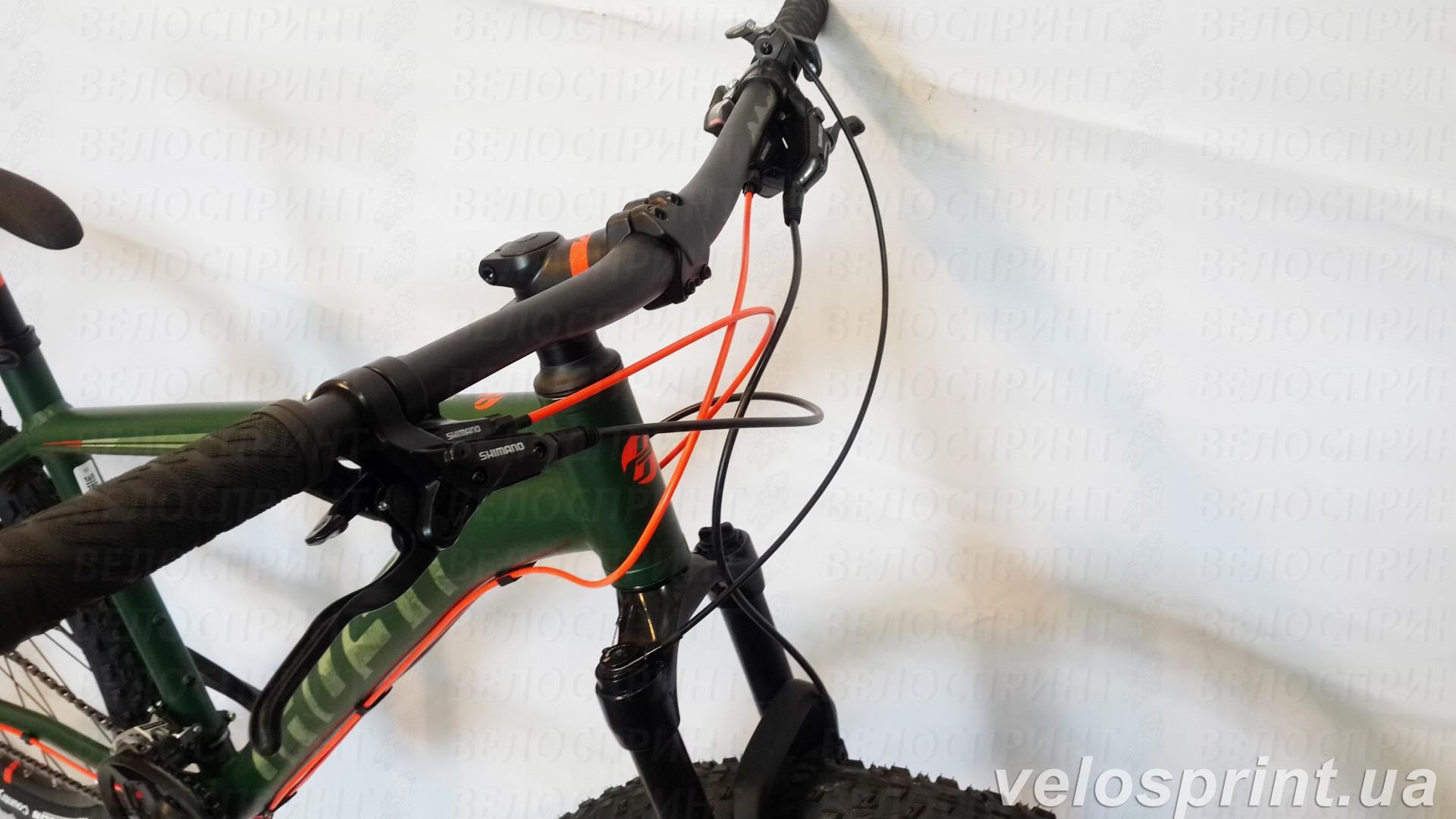 Велосипед GHOST Kato 2 AL 27.5 forestgreen/armygreen/neonred руль год 2017