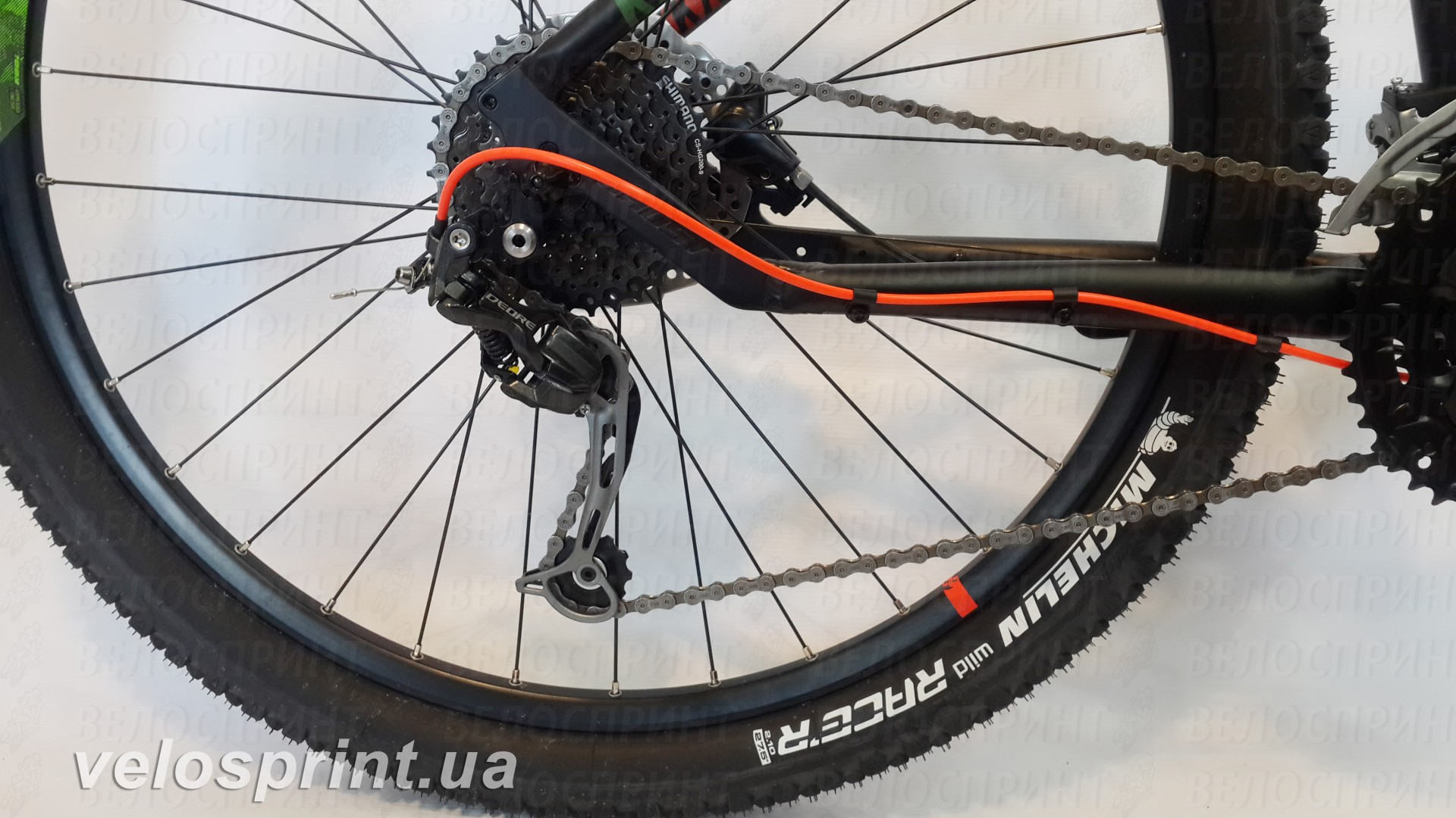 Велосипед GHOST Kato 3 AL 27.5 nightblack/riotgreen/neonred задний переключатель год 2017