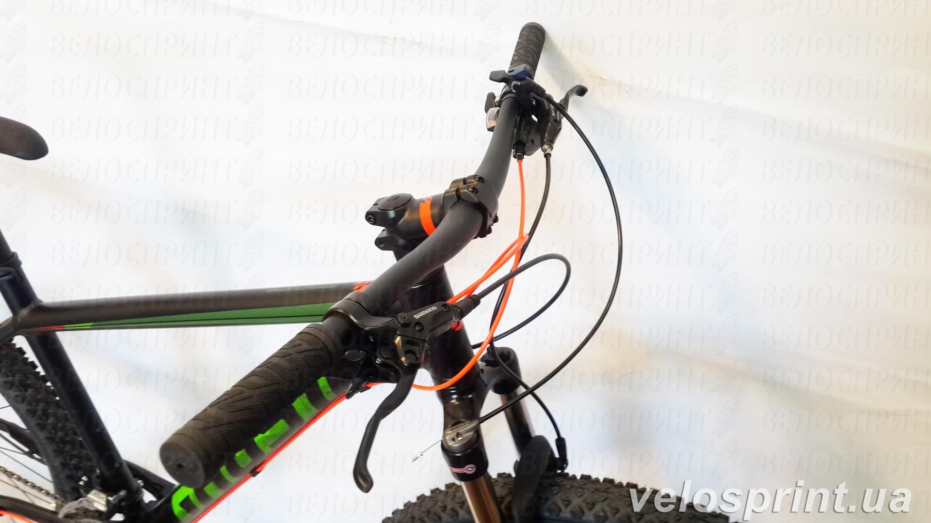 Велосипед GHOST Kato 3 AL 27.5 nightblack/riotgreen/neonred передний тормоз тормозные ручки год 2017