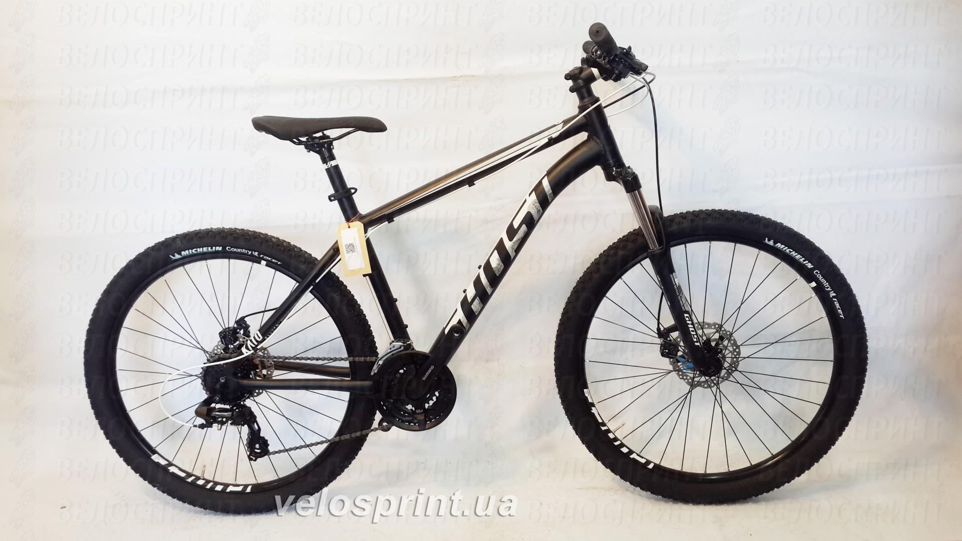 Велосипед GHOST Kato 1 AL 26 nightblack/starwhite общий вид год 2017
