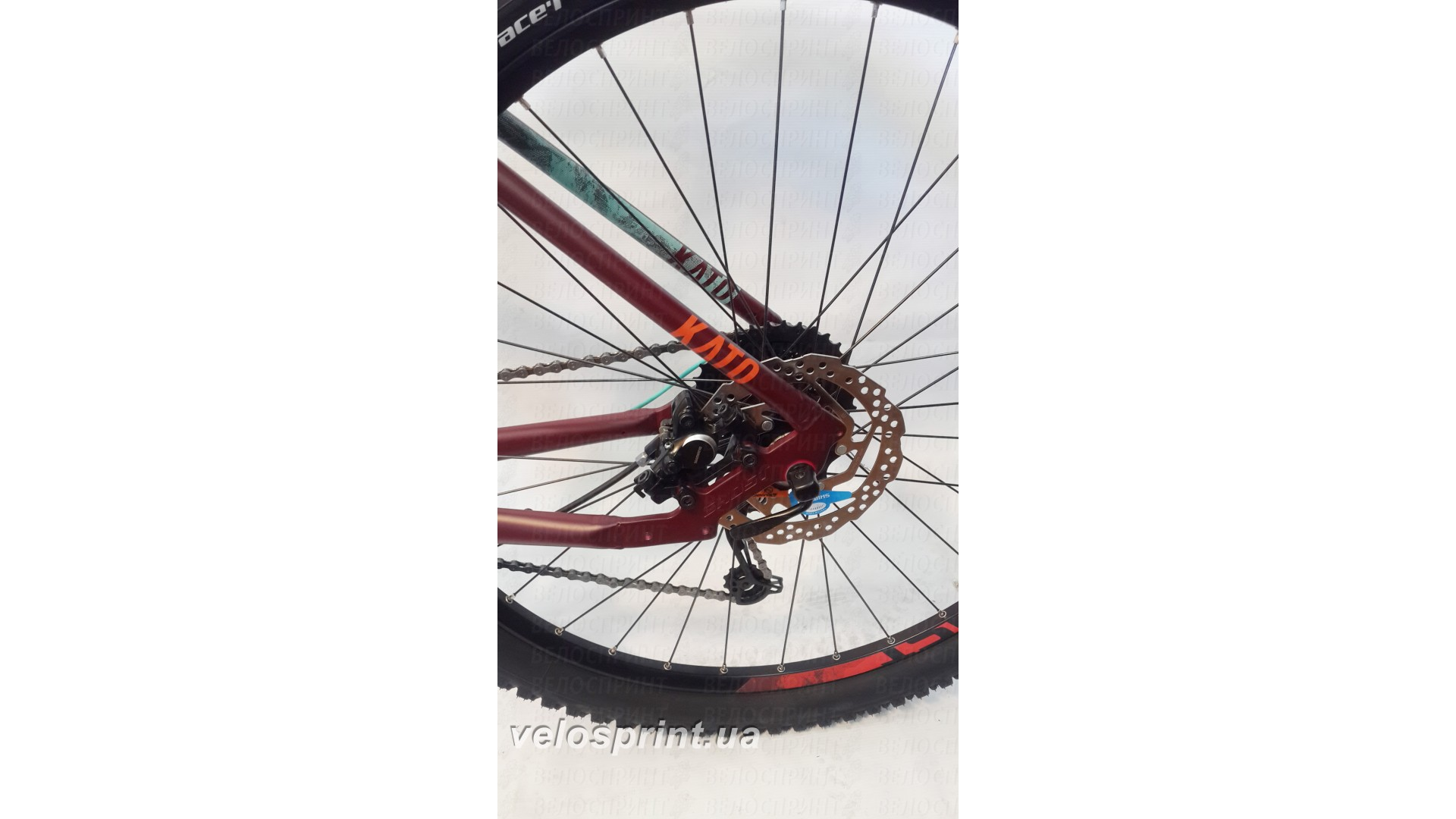 Велосипед GHOST Kato 3 AL 29 marsalared/cranberryred/jadeblue задний тормоз год 2017