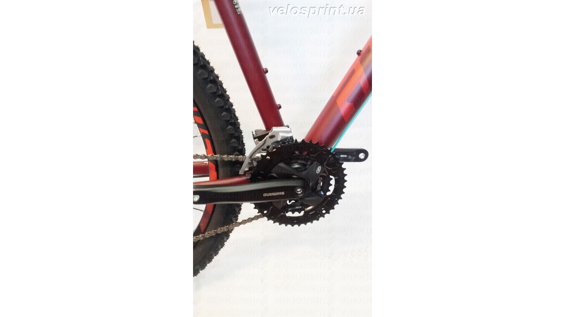 Велосипед GHOST Kato 3 AL 29 marsalared/cranberryred/jadeblue шатуны год 2017