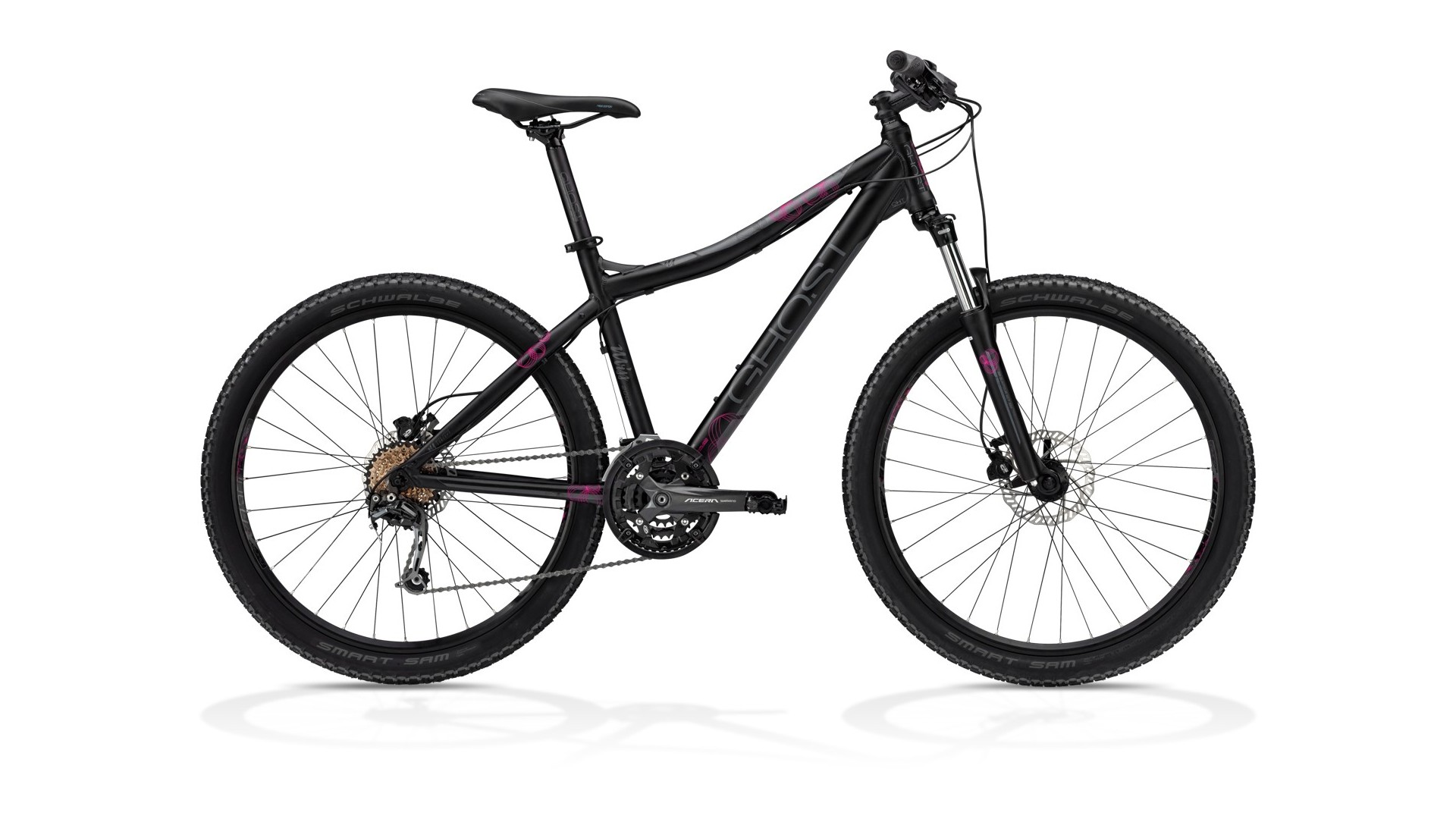Велосипед GHOST MISS 2000 black/grey/pink год 2013