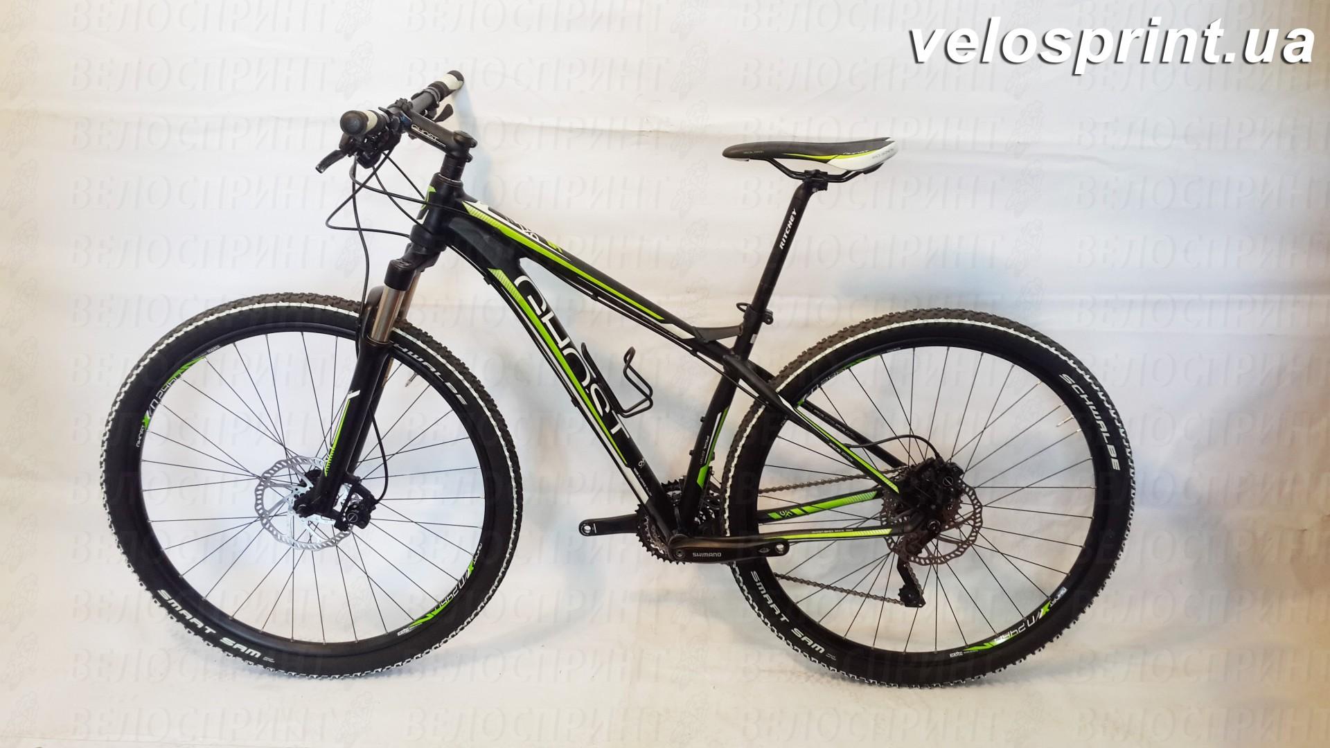 Велосипед GHOST SE 2950 black/white/green общий вид год 2013