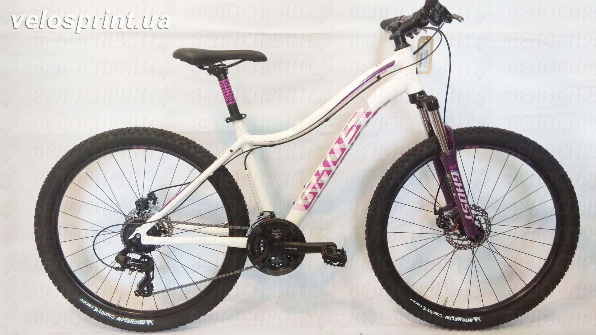 Велосипед GHOST Lawu 2 white/pink/purple общий вид год 2016