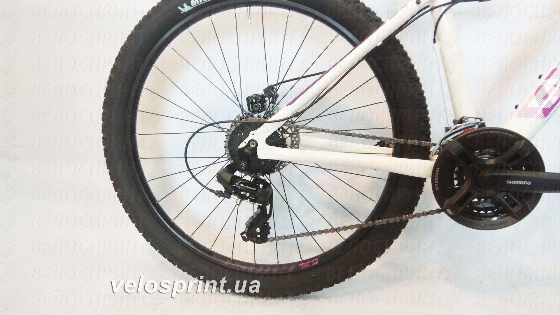 Велосипед GHOST Lawu 2 white/pink/purple задний переключатель год 2016