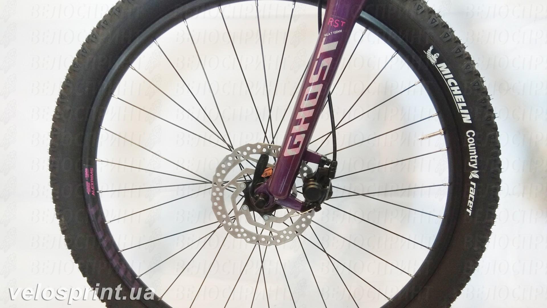 Велосипед GHOST Lawu 2 white/pink/purple передний тормоз год 2016