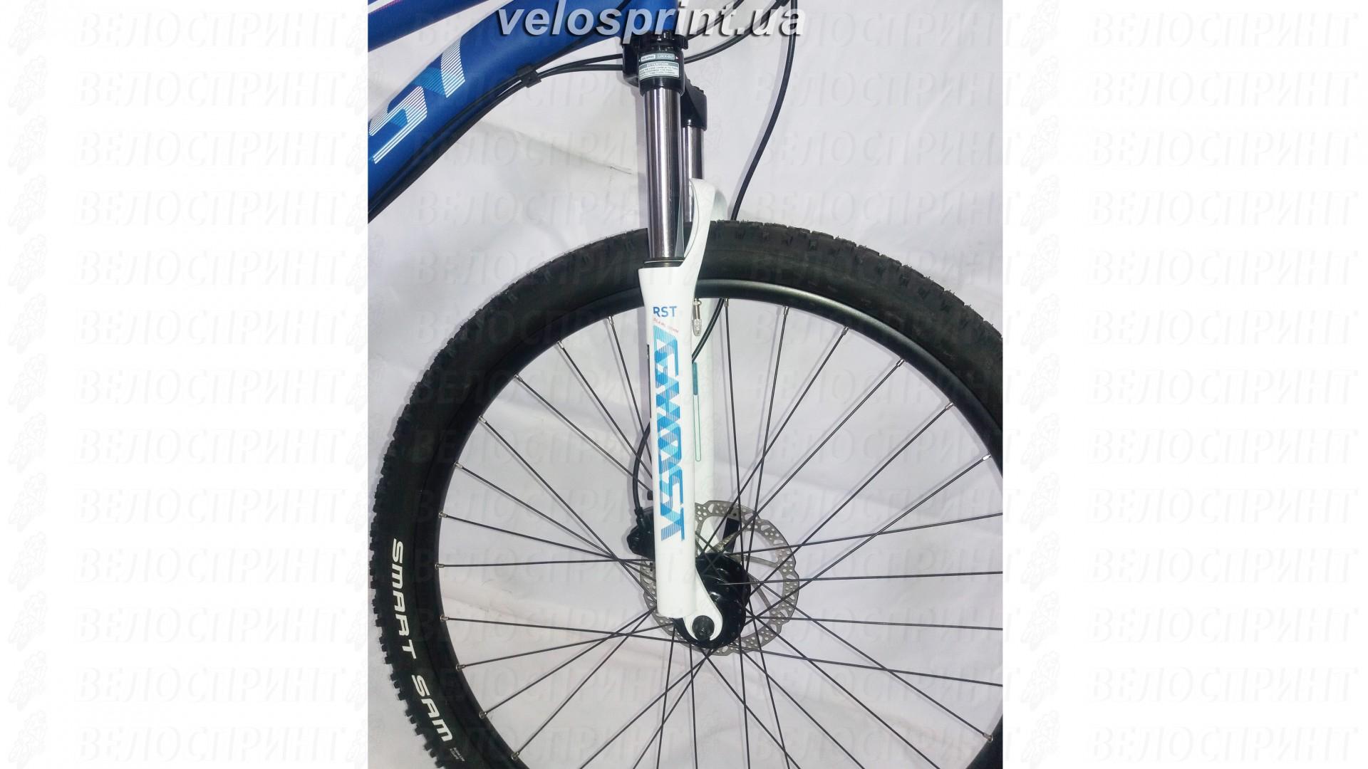 Велосипед GHOST Lanao 1 darkblue/white/cyan/pink переднее колесо год 2016
