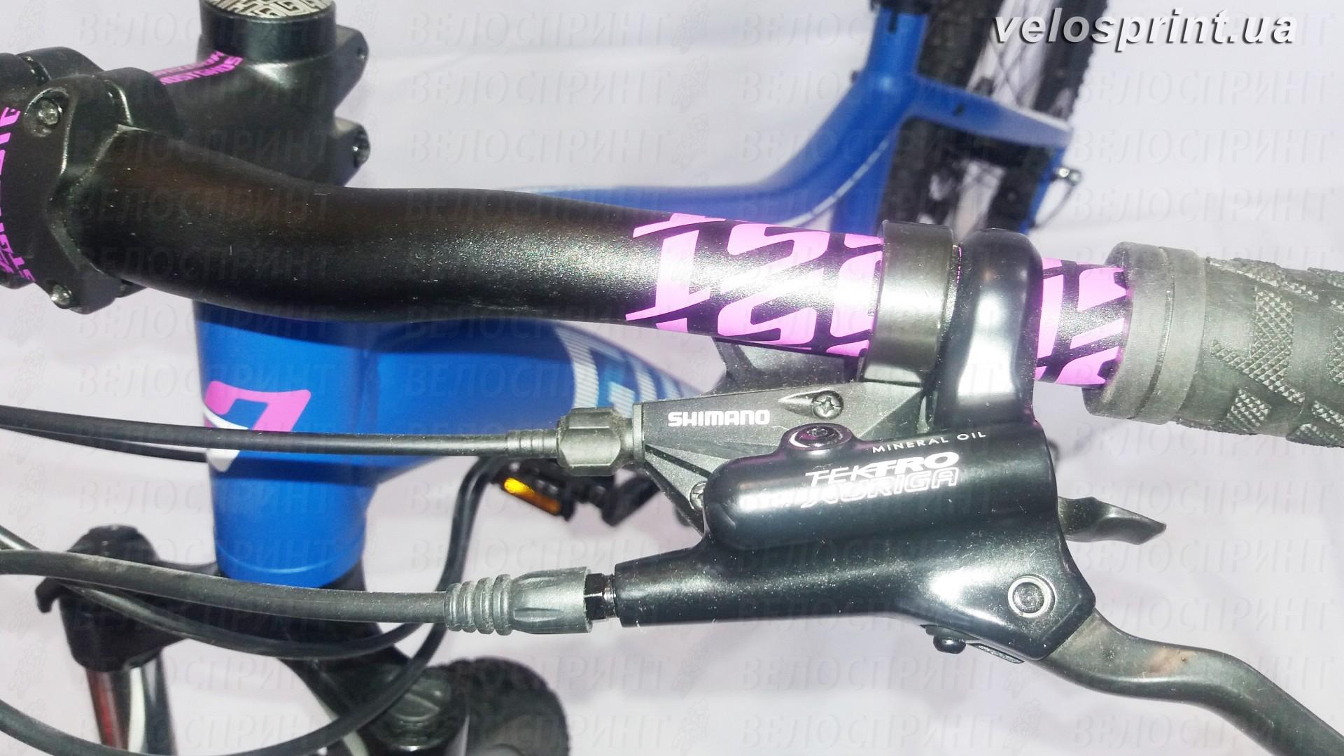 Велосипед GHOST Lanao 1 darkblue/white/cyan/pink манетки переключения год 2016